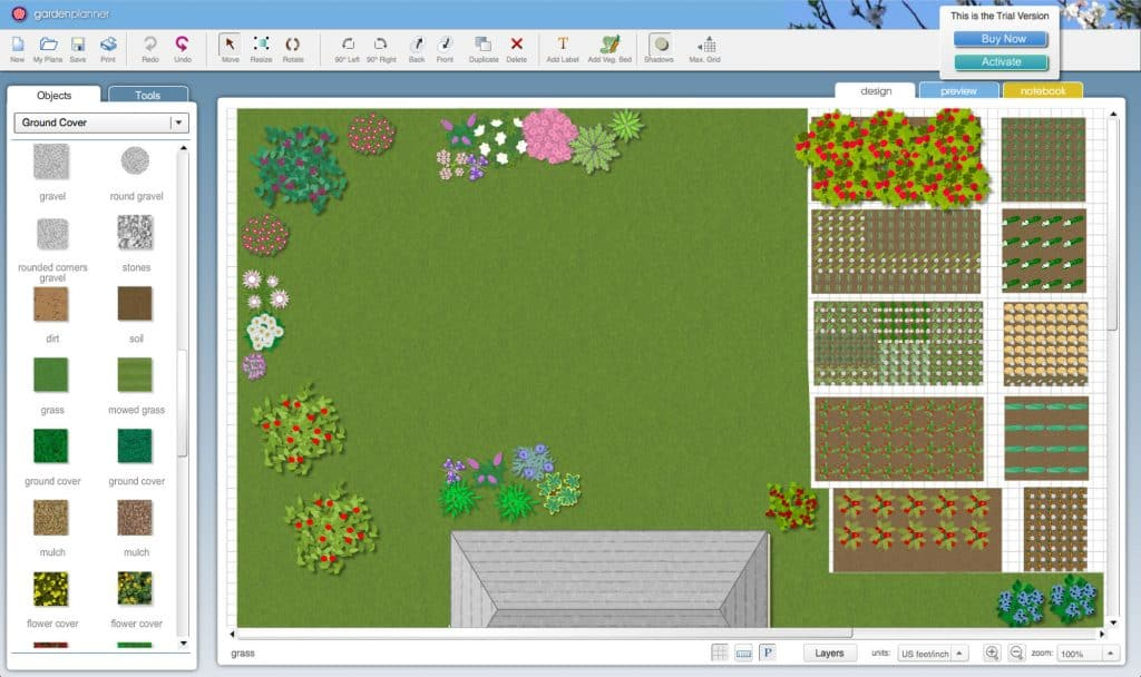 Digital Image of Our Garden Using Garden Layout Software