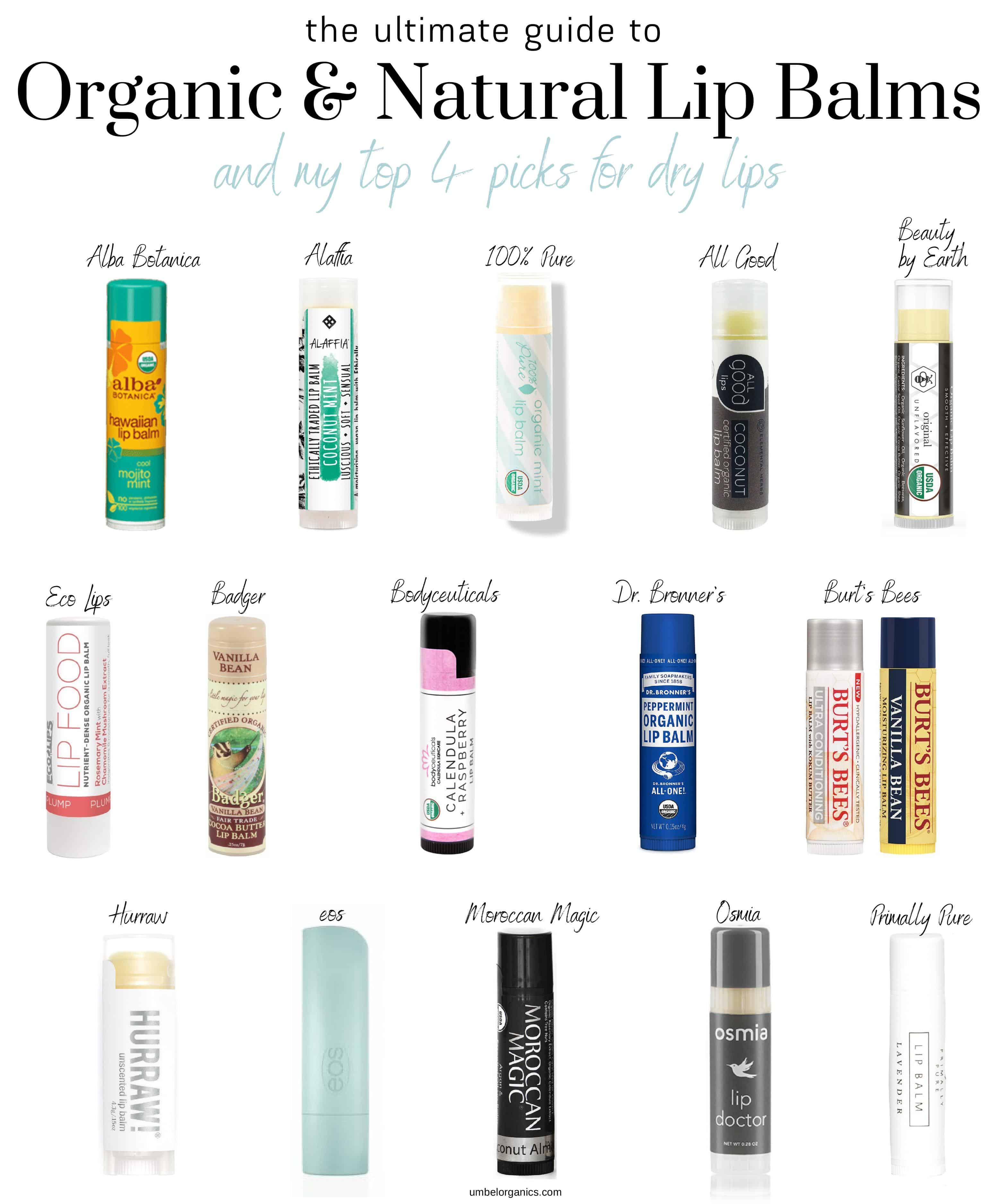 15 natural and organic lip balms tried and tested