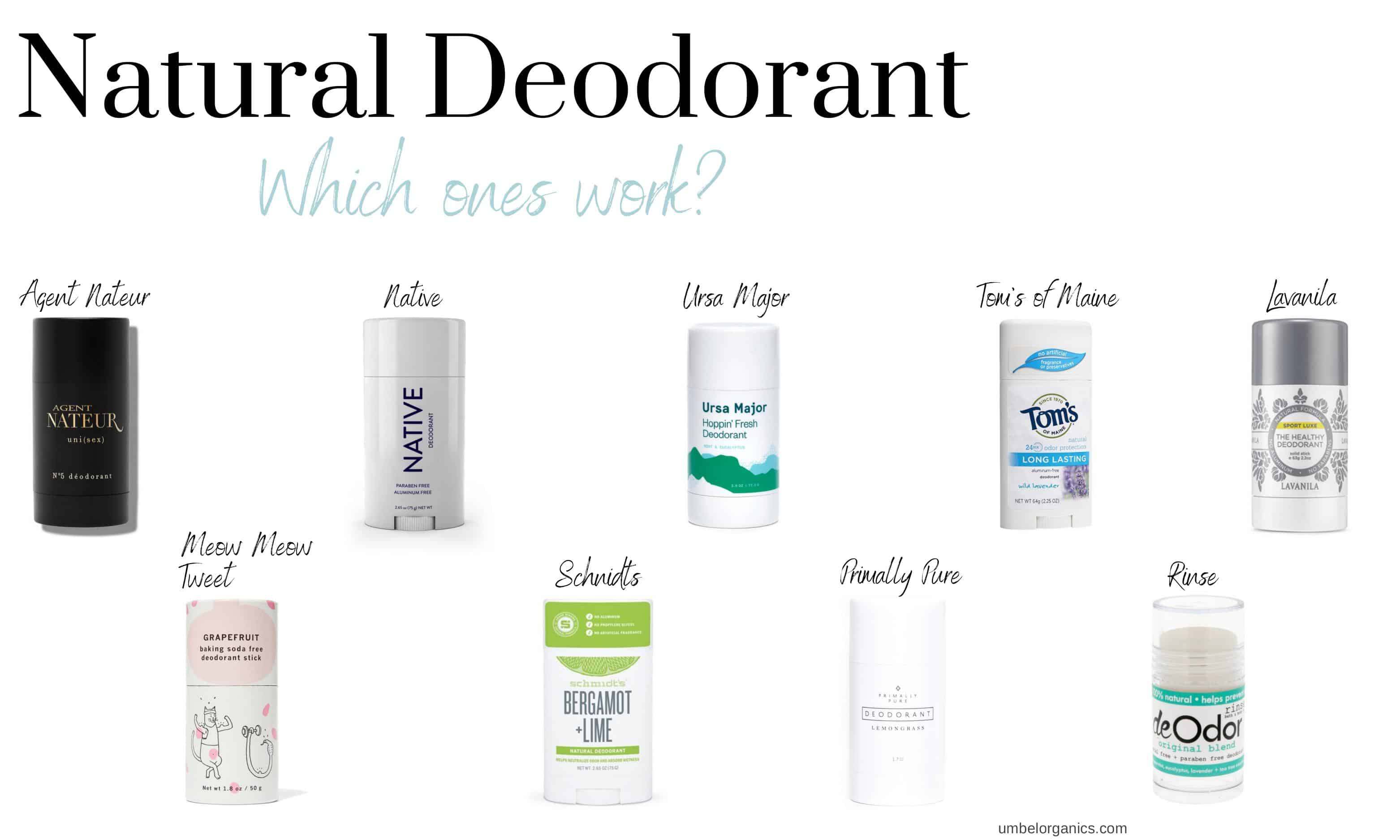Which natural deodorants work?