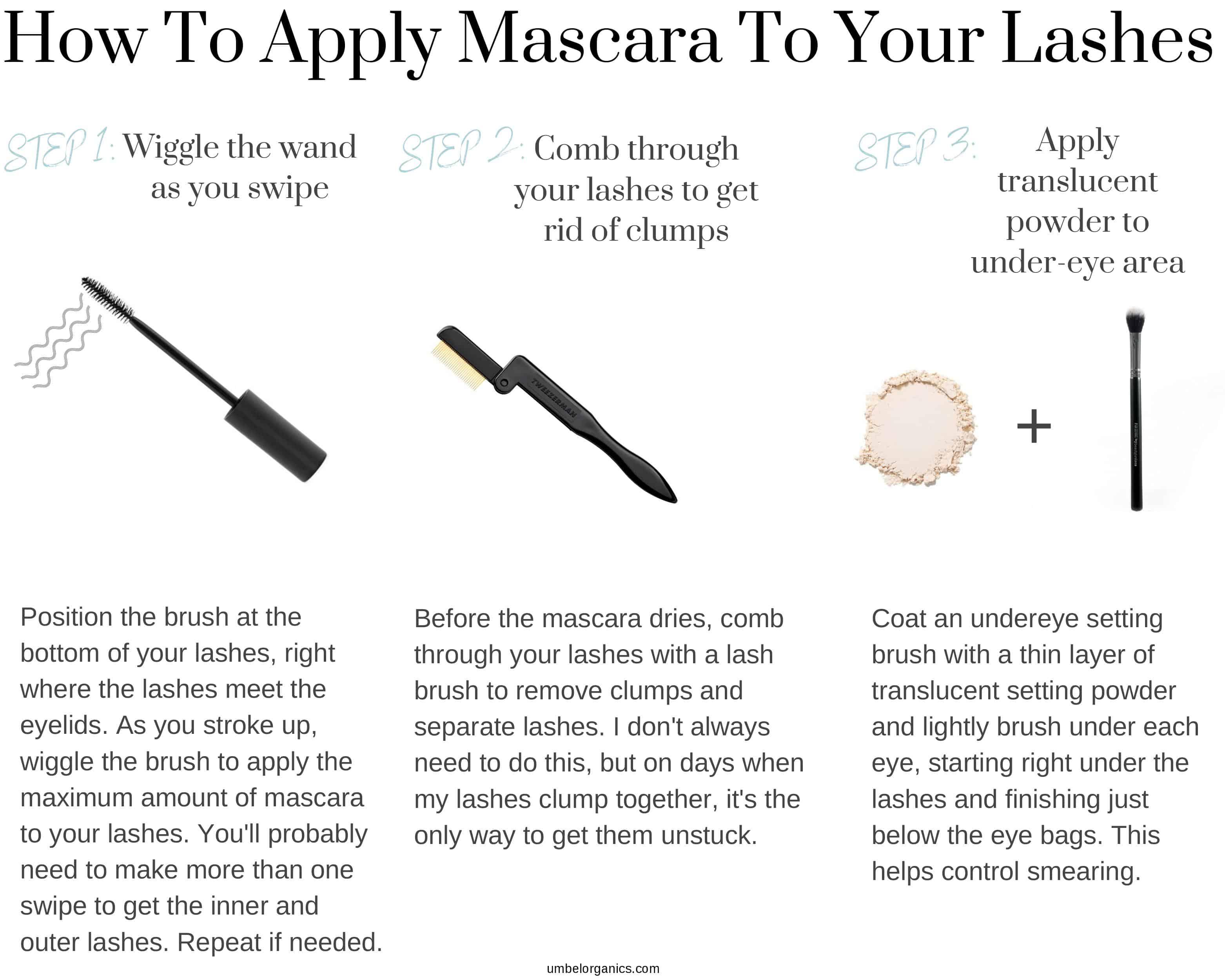 3 Steps to apply mascara