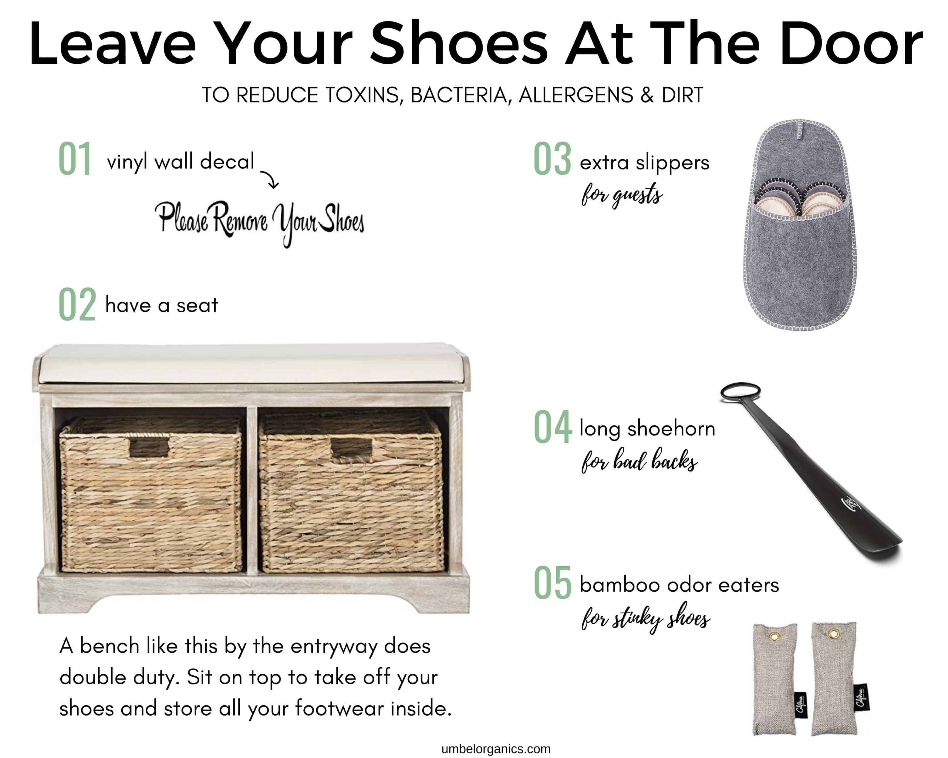 5 Helpful items for leaving shoes at the door