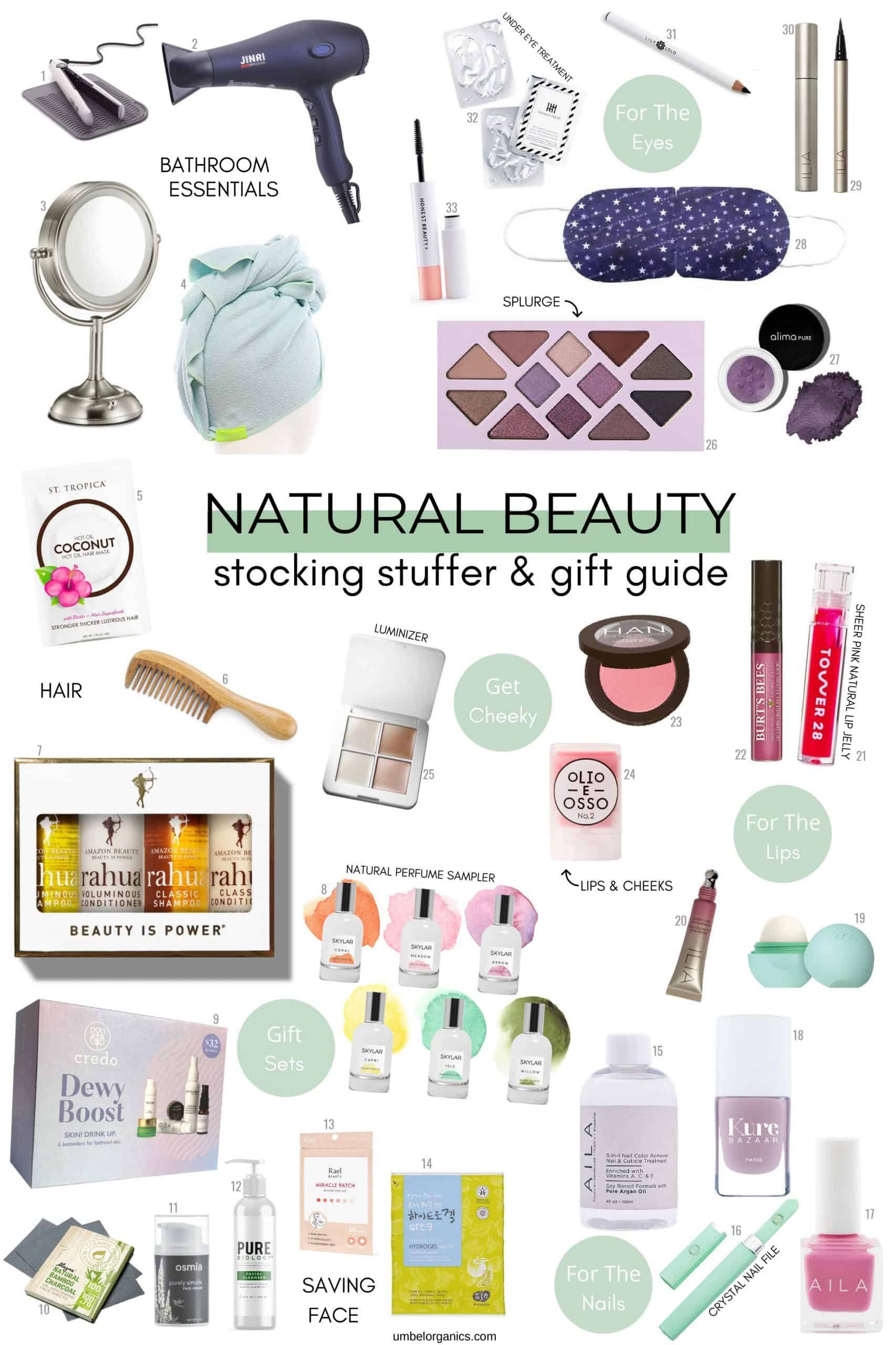 Natural Beauty Stocking Stuffer and Gift Guide
