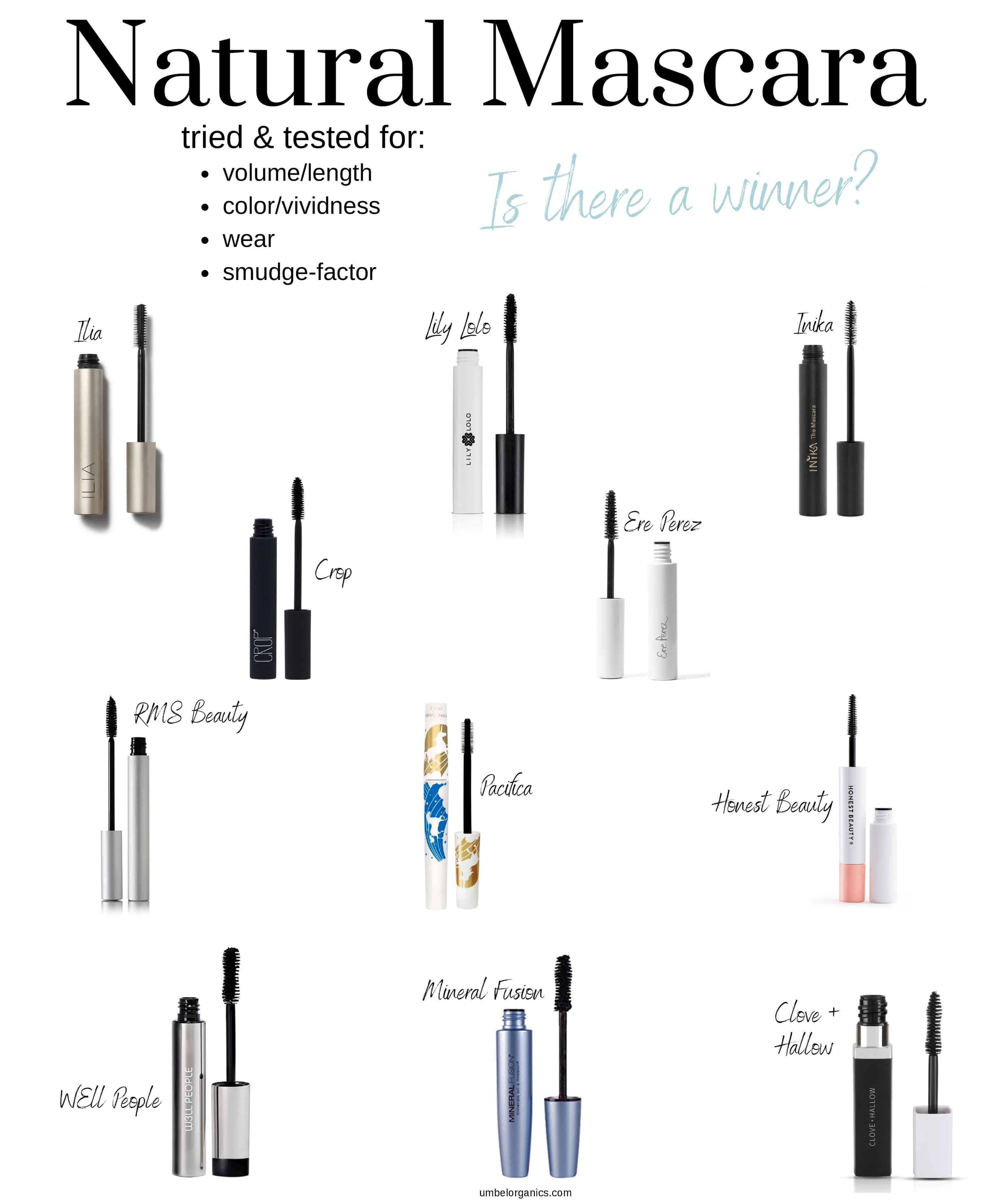11 natural mascara brands tested
