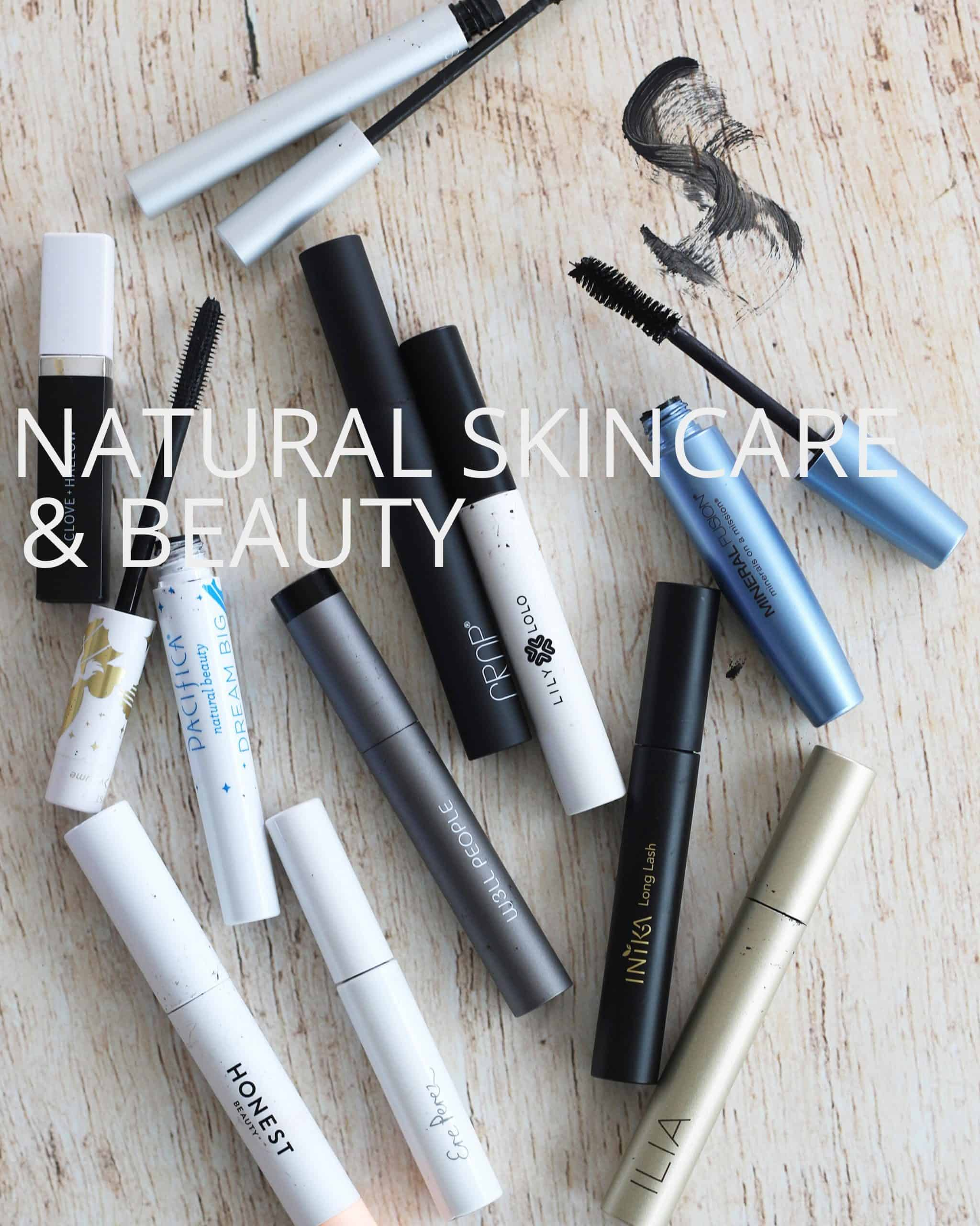 Natural skincare and beauty with natural mascara