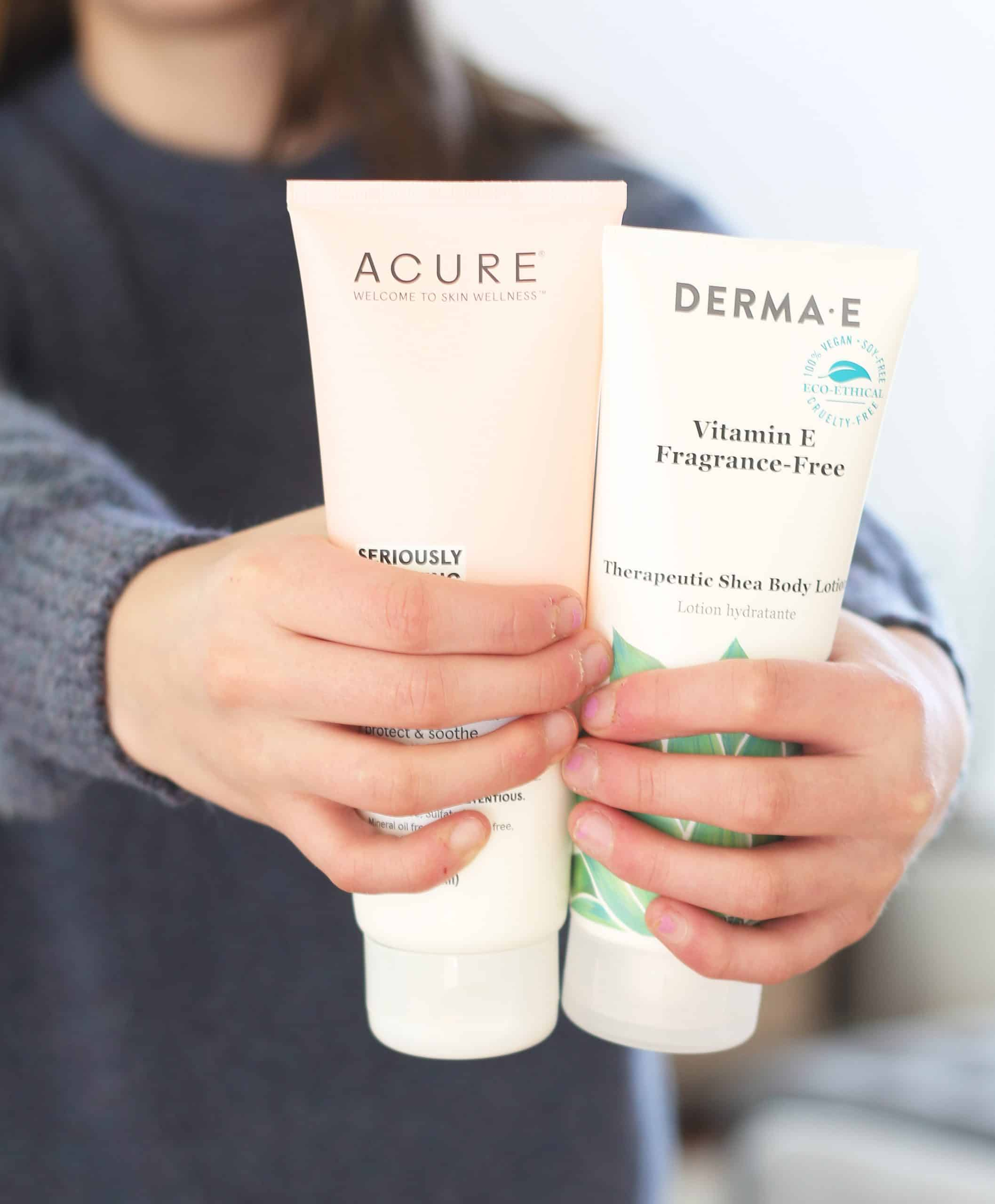 Lotion for dry hands- Acure and Derma E
