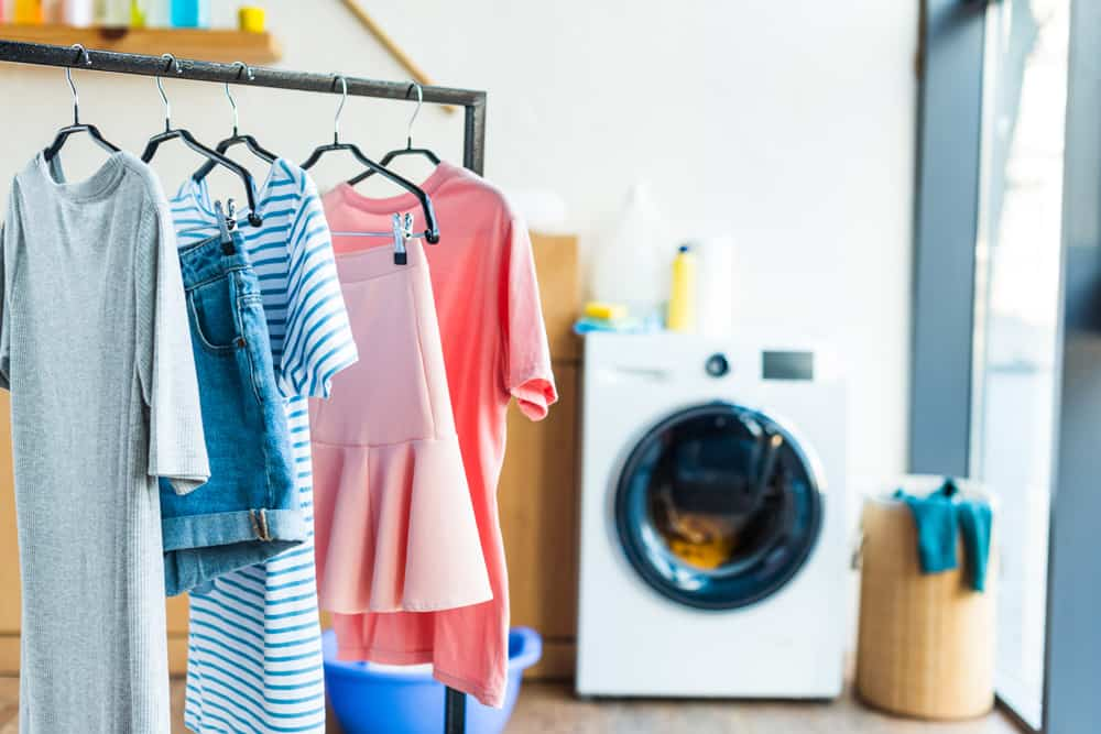 Hang dry laundry to reduce static cling