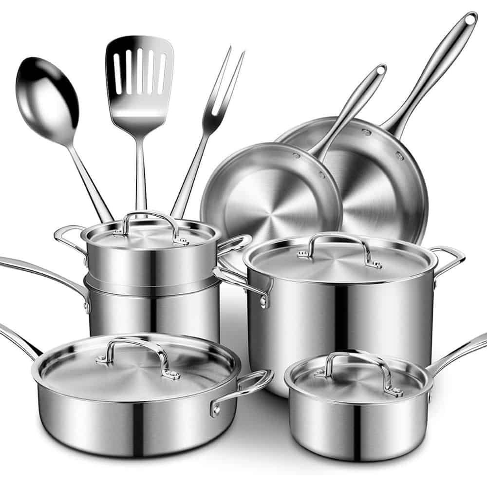 Cusibox Stainless Steel Pots and Pans Set