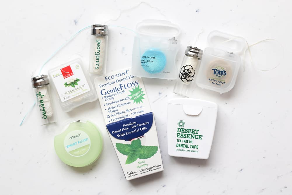Nine brands of natural floss