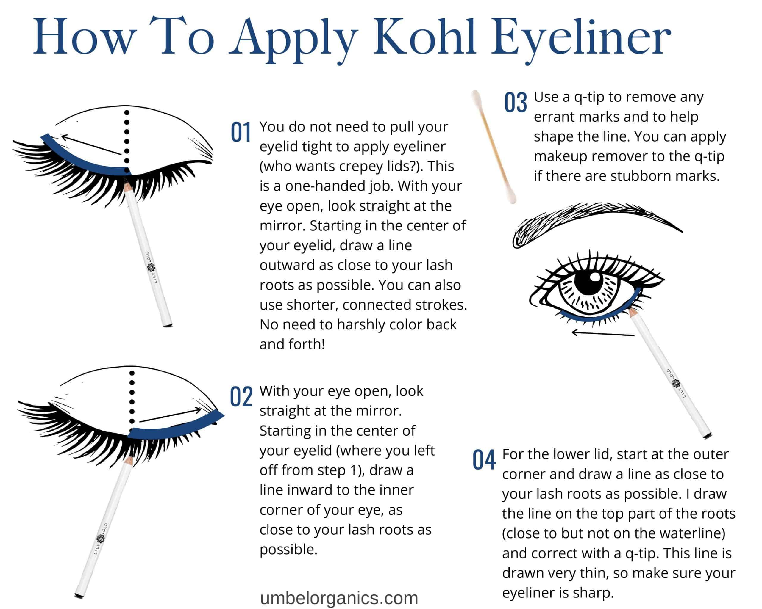 How To Apply Kohl Eyeliner