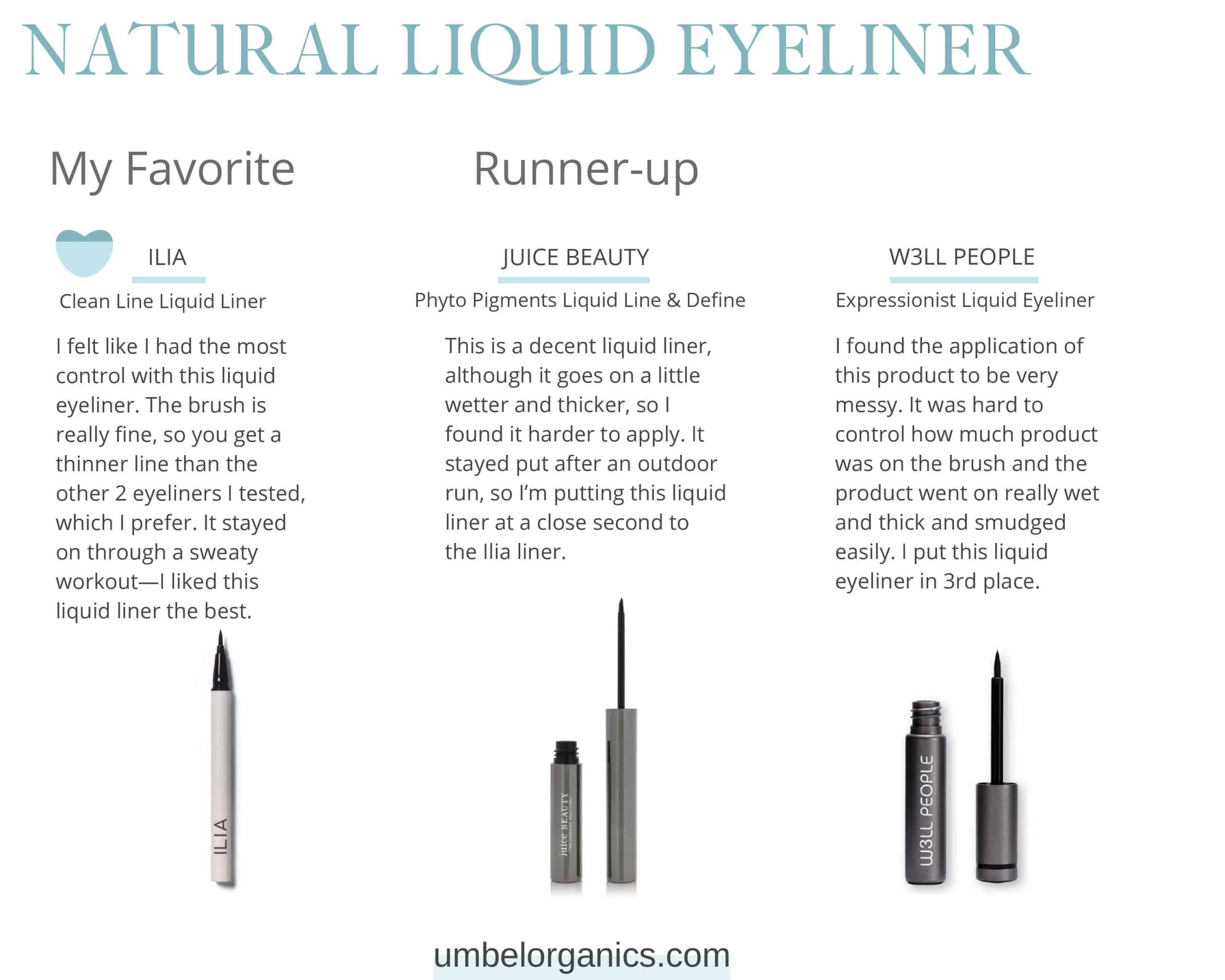 3 Brands of Natural Liquid Eyeliner