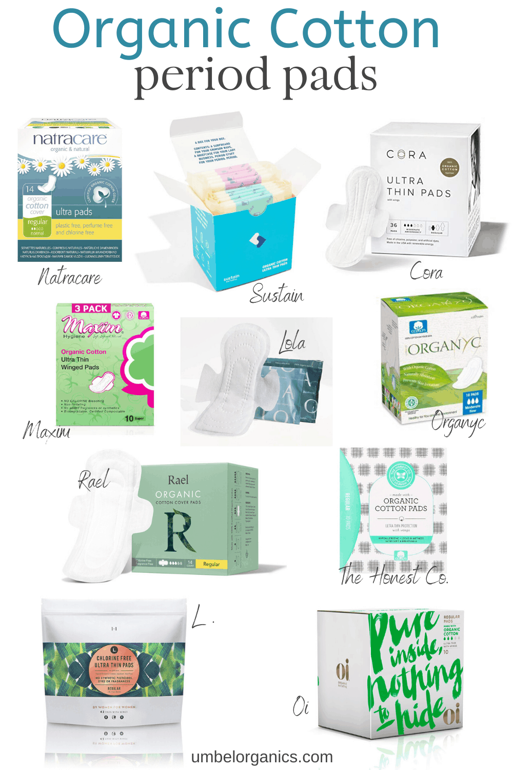 10 brands of organic cotton period pads