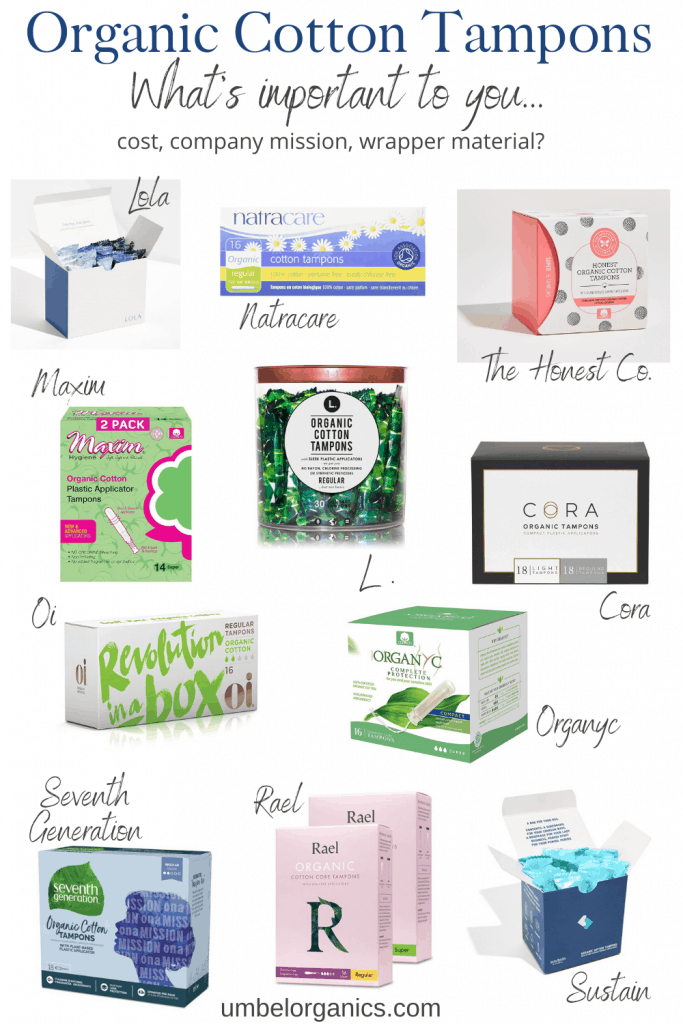 11 brands of organic cotton tampons
