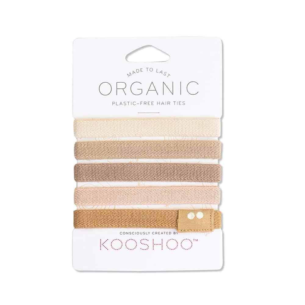 KOOSHOO Organic Plastic-Free Hair Ties