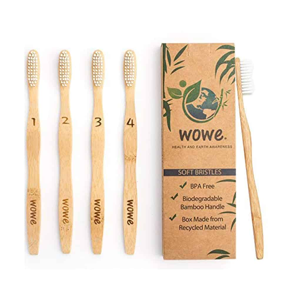 Wowe Bamboo Toothbrushes
