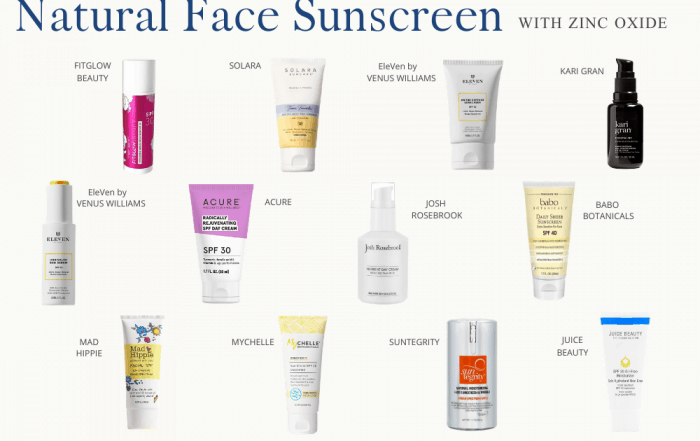 12 Brands of Natural Sunscreen with zinc oxide that I tested