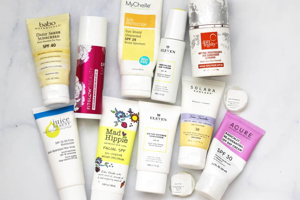 Natural sunscreen brands tested