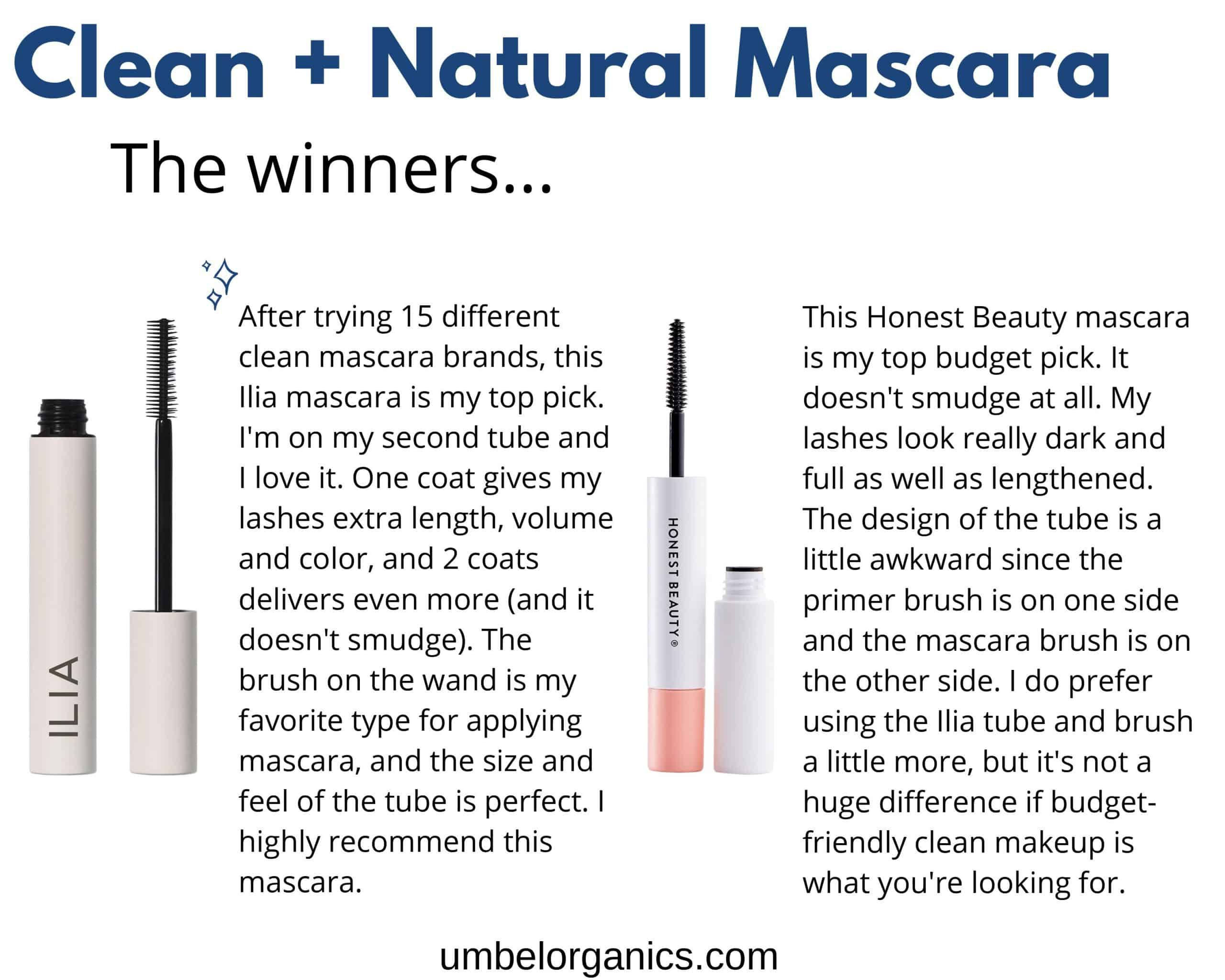 Ilia and Honest Beauty Mascara