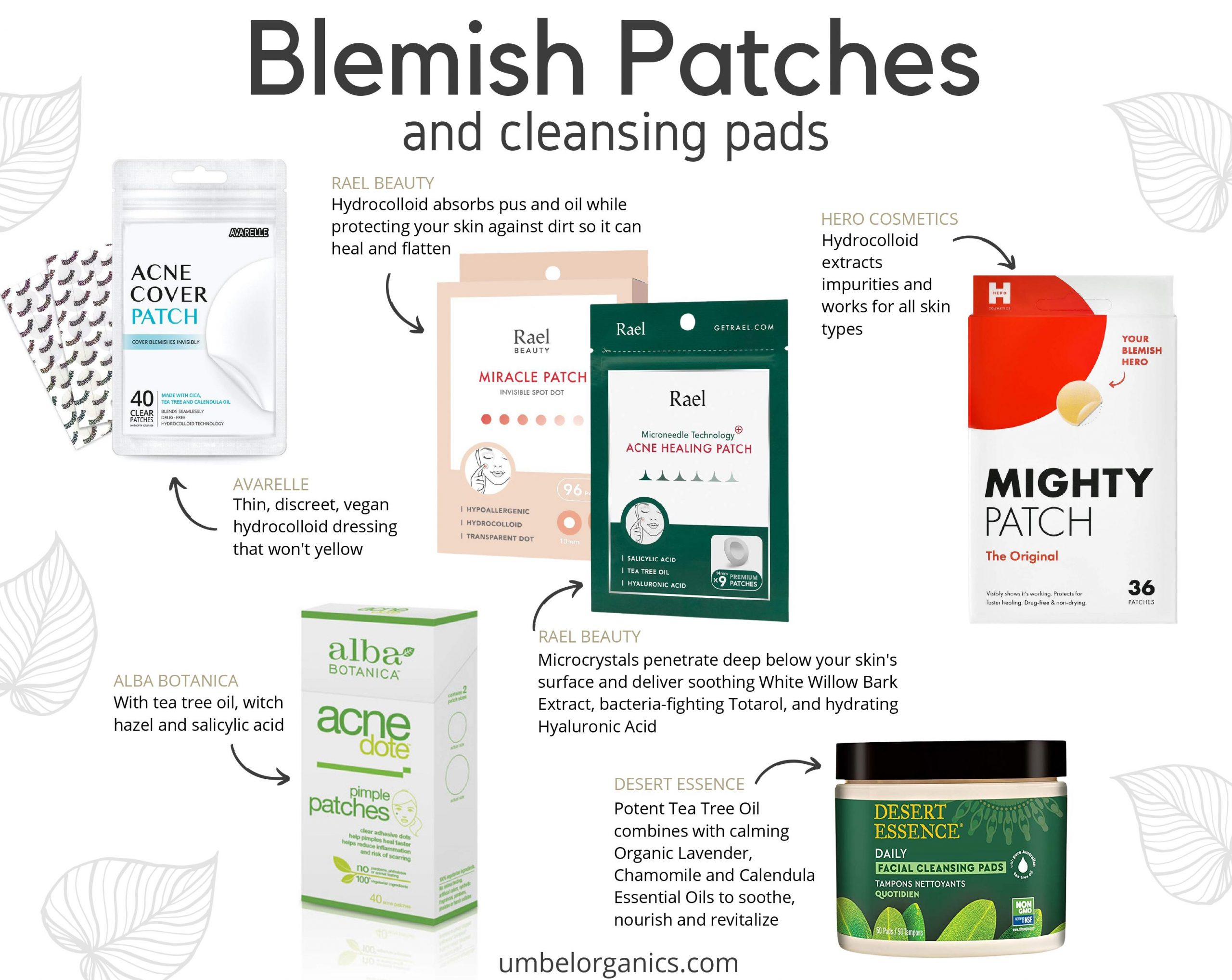 5 brands of clean, affordable Blemish patches and cleansing pads