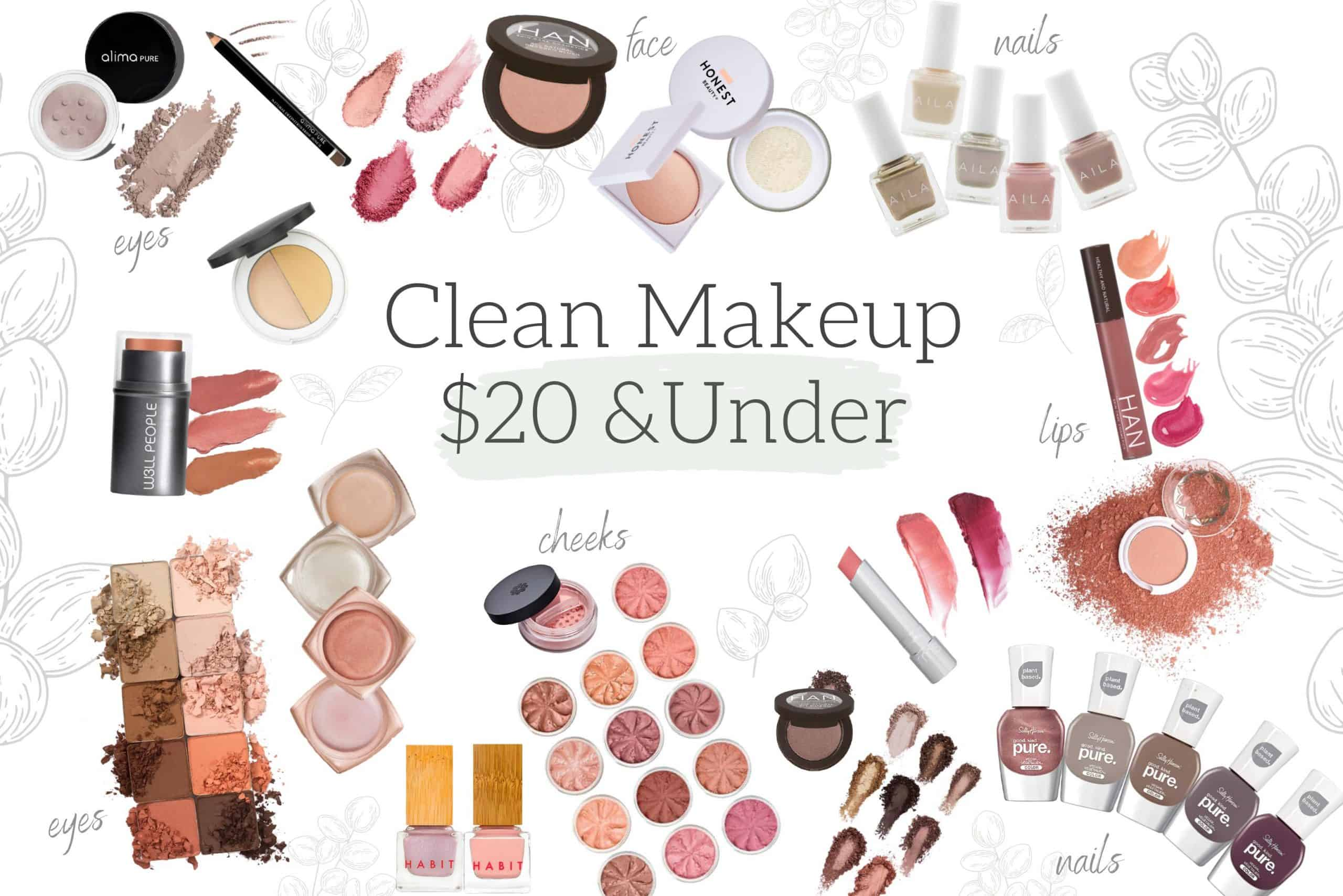 Budget-friendly clean makeup $20 and under