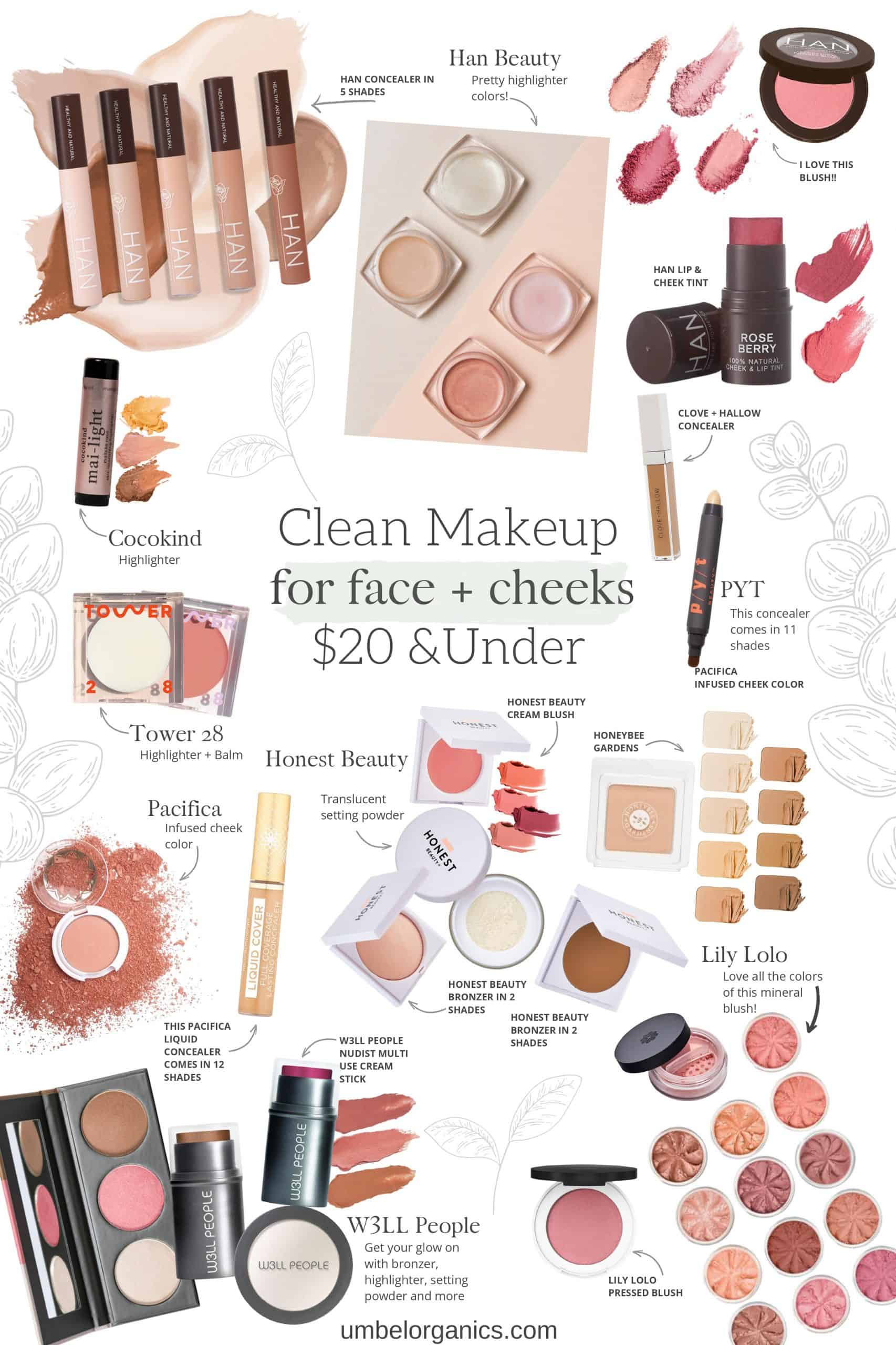 Budget-friendly Clean Makeup For The Face + Cheeks