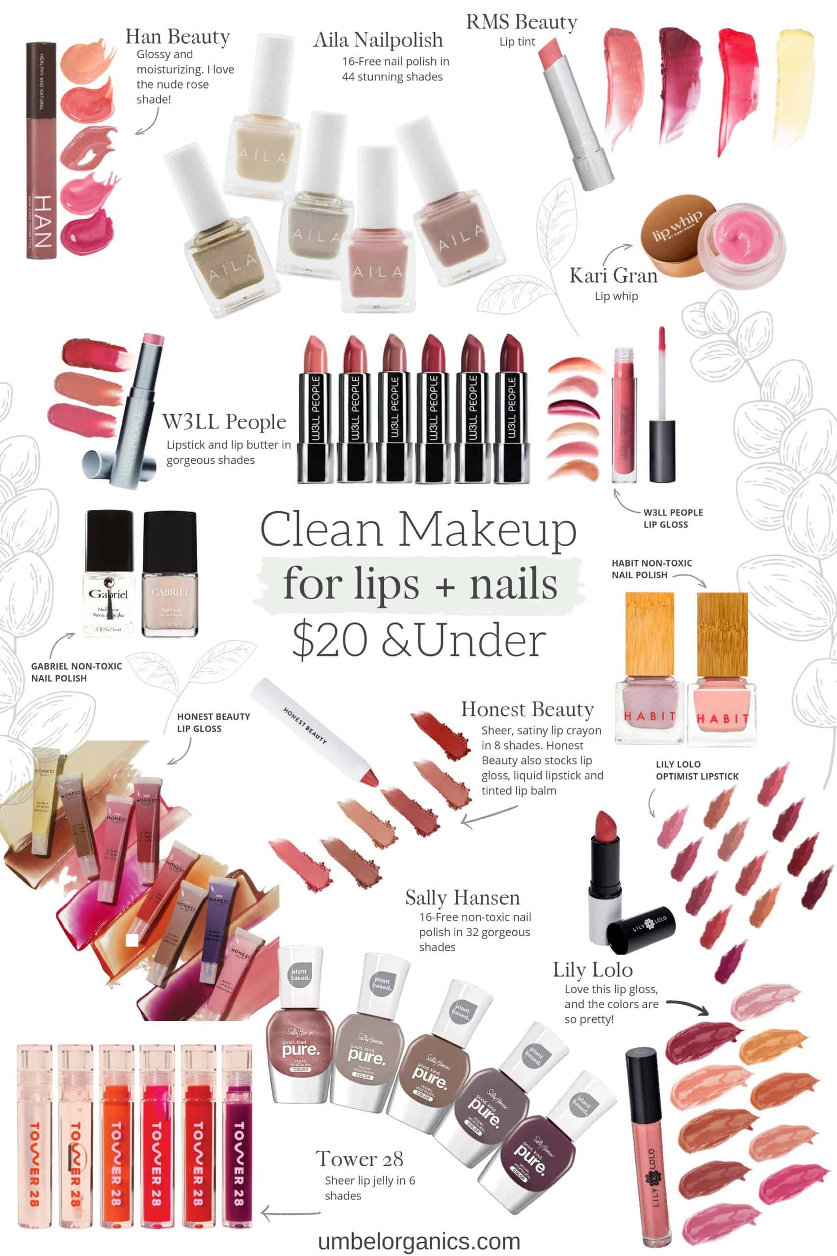 Budget-friendly Clean Makeup For The Lips + Nails