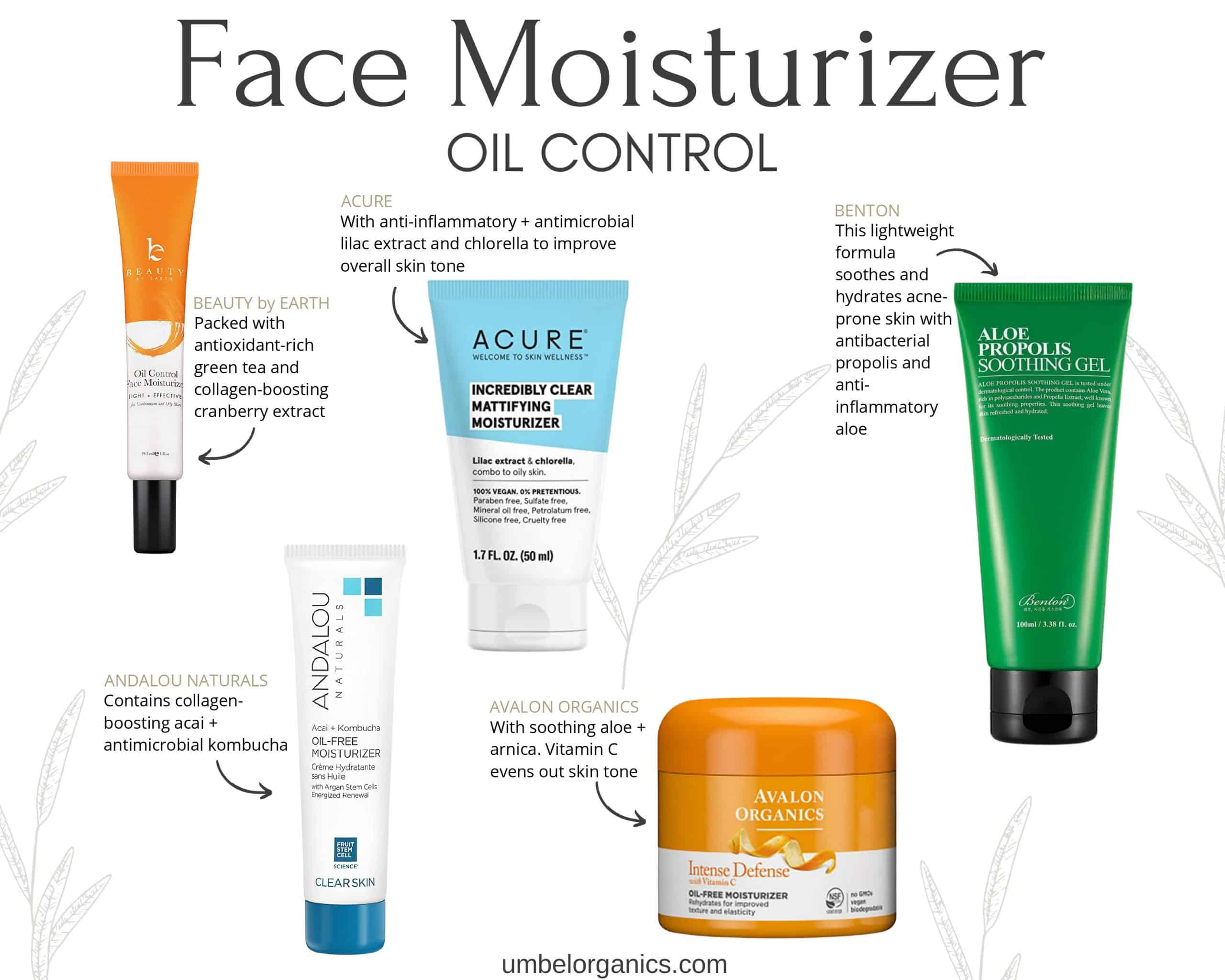 5 Brands of clean budget-friendly oil control face moisturizer