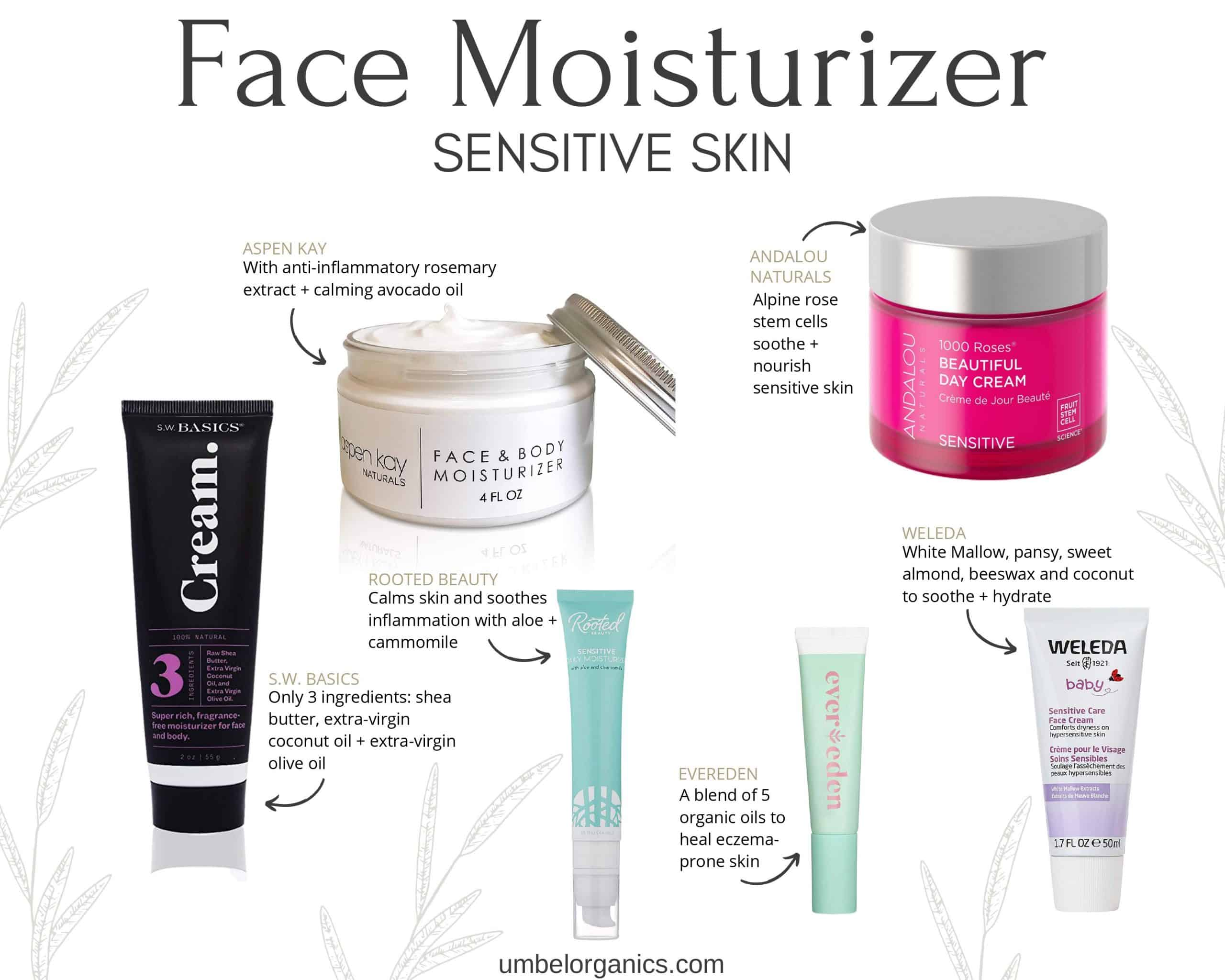 6 brands of clean, sensitive skin, budget-friendly face moisturizer