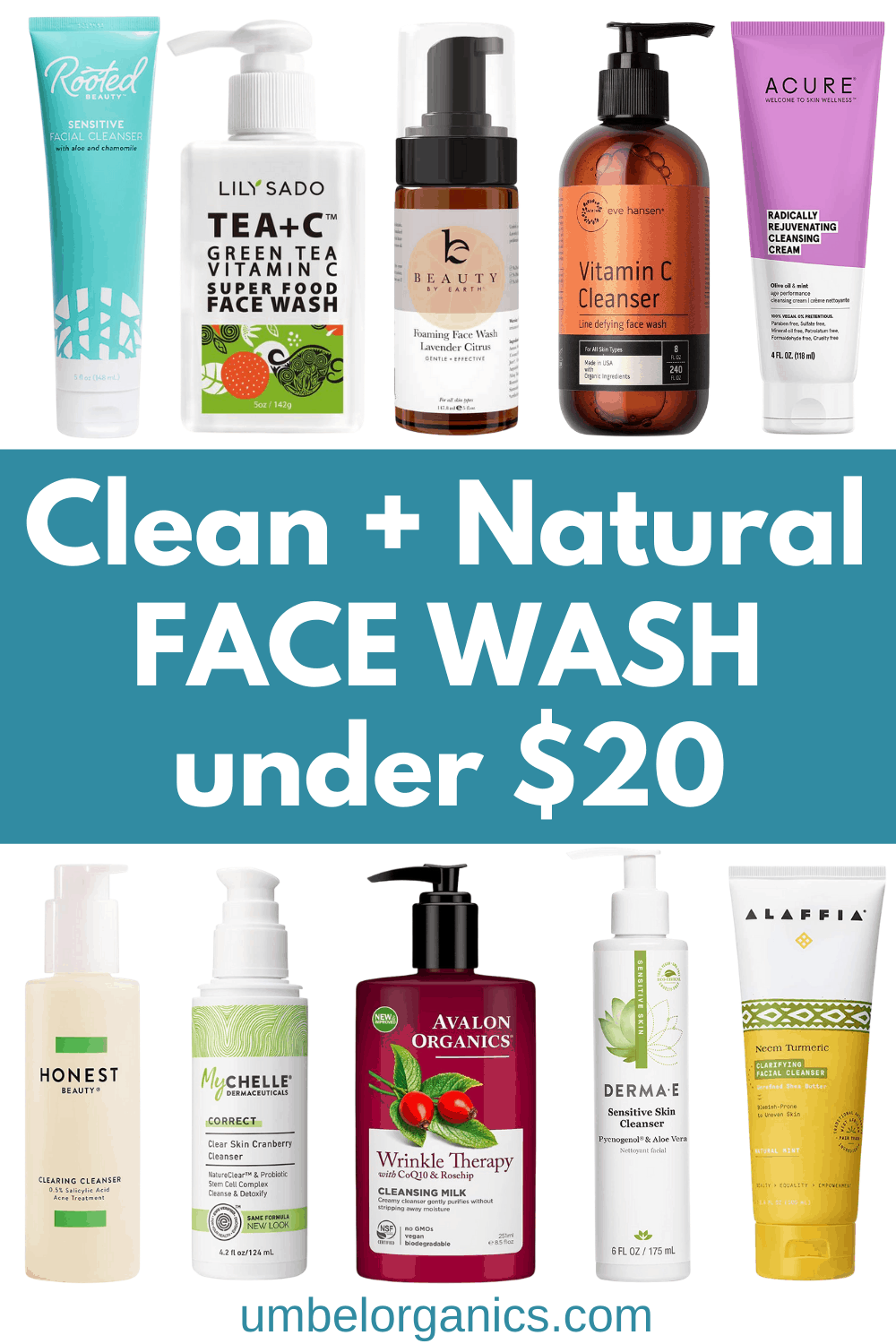 10 Brands of Natural Face Wash