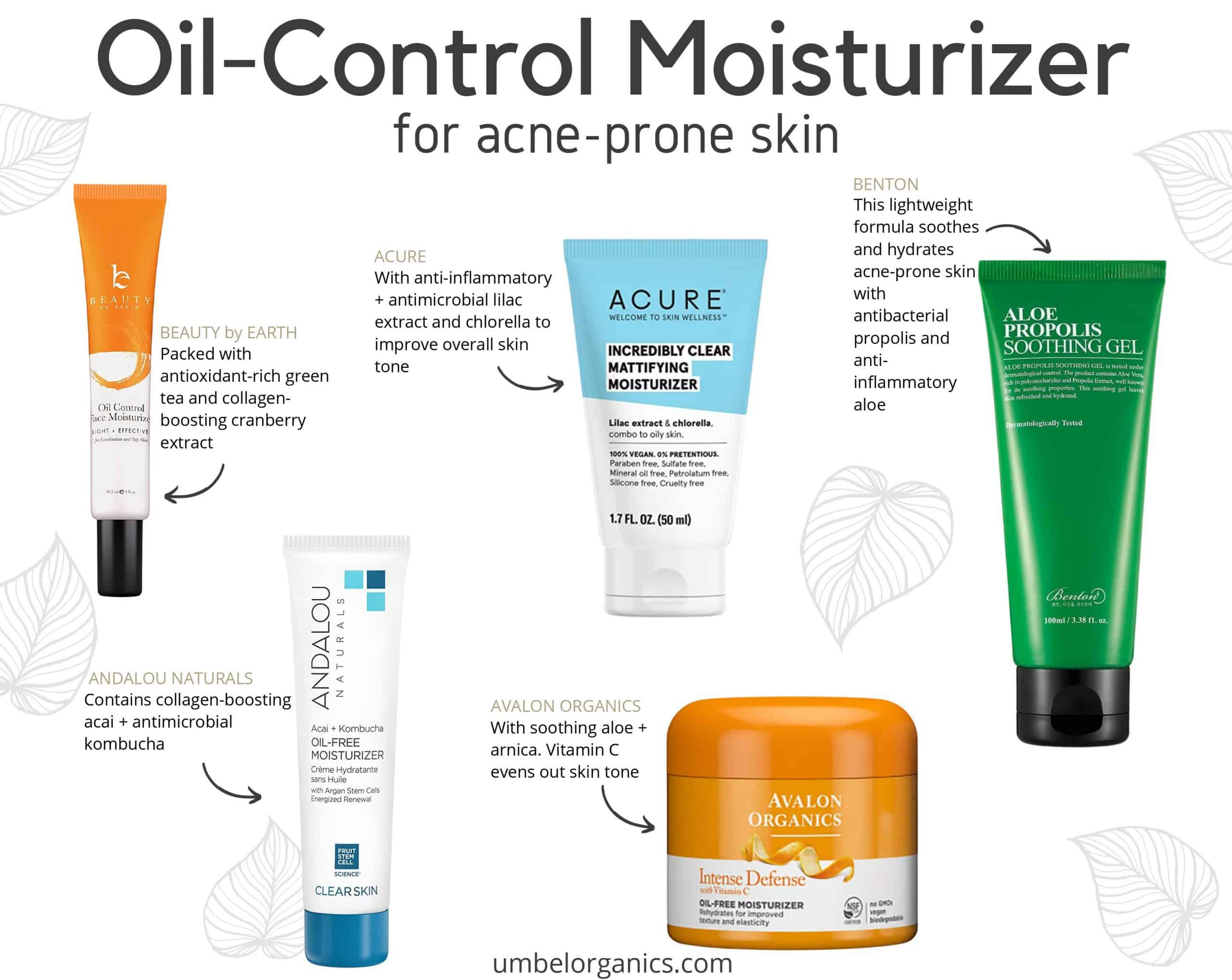 5 brands of clean, affordable oil-control face moisturizer