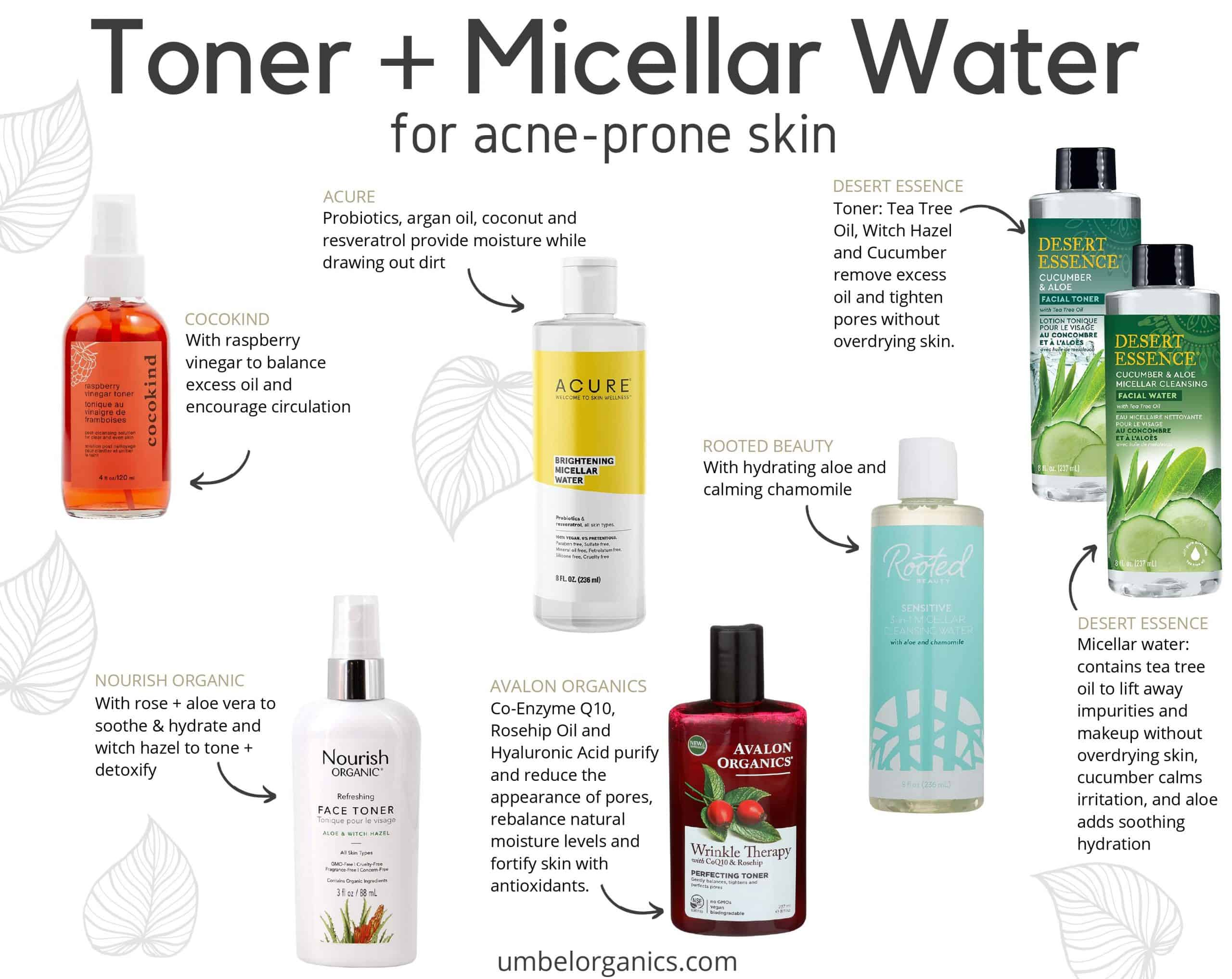 6 brands of affordable, clean toner and micellar water for acne-prone skin