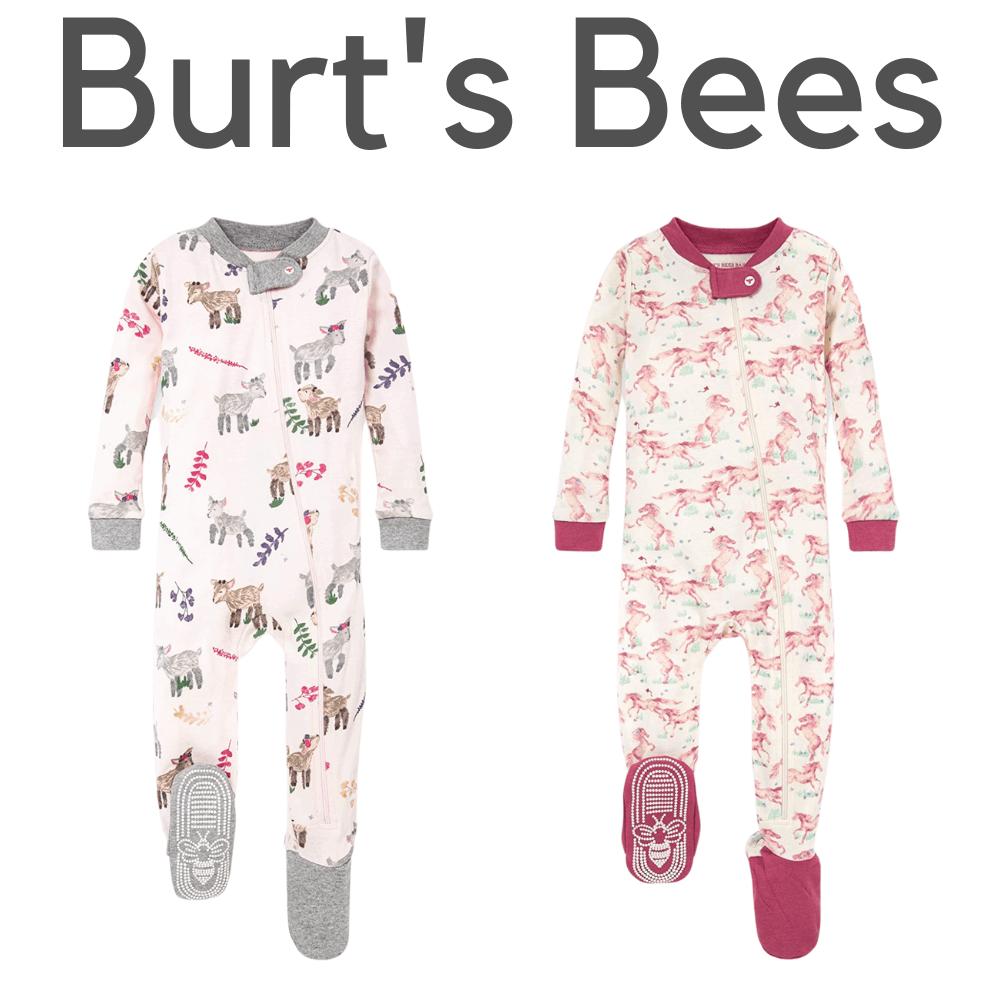 Burt's Bees Organic Footer Girl Pajamas