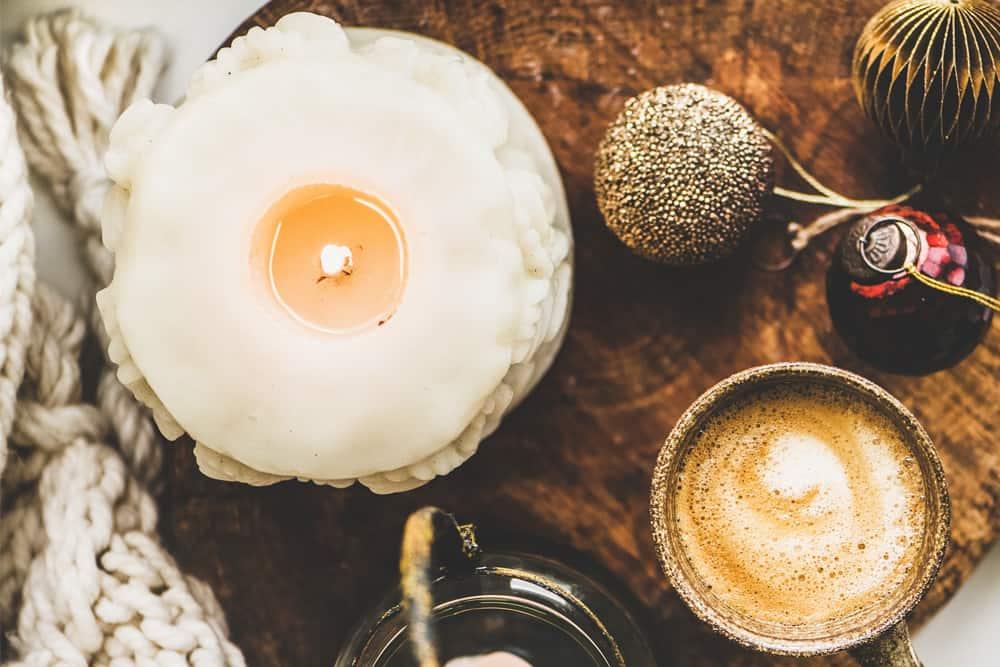 Cozy candle scene
