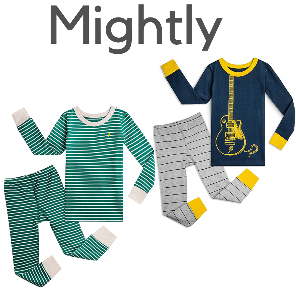 Mightly Kids Organic Boys Pajamas