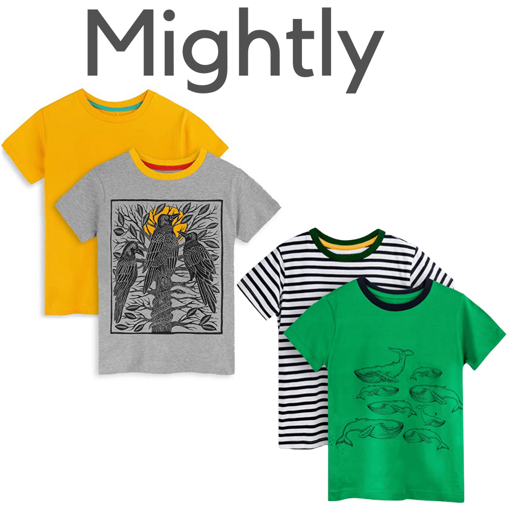 Mightly Organic Short Sleeve Pajama Tops