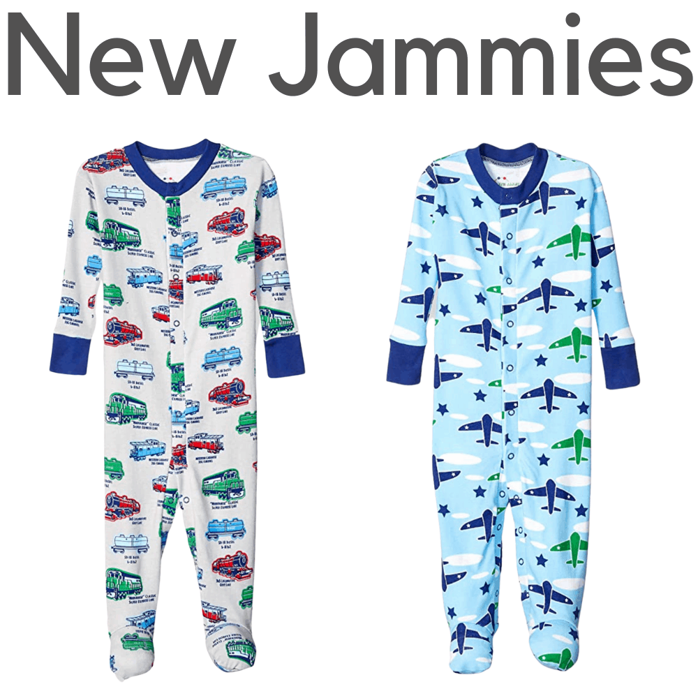 New Jammies Organic Boys Footed Pajamas