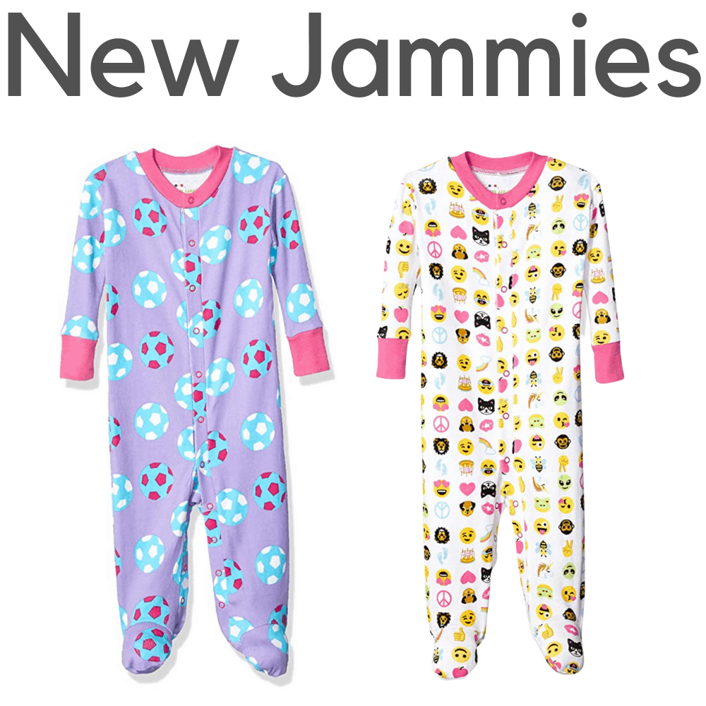 New Jammies Organic Girls Footed Pajamas