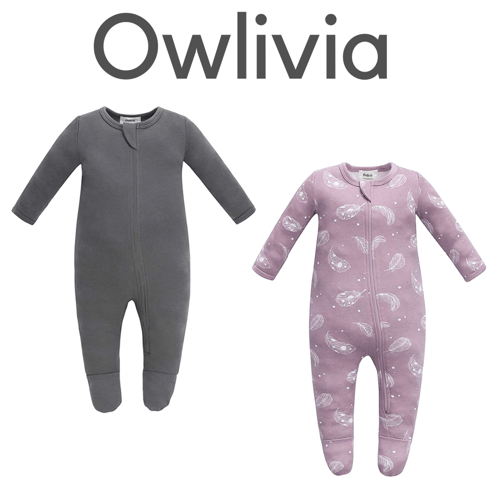 Owlivia Organic Fleece Footed Pajamas
