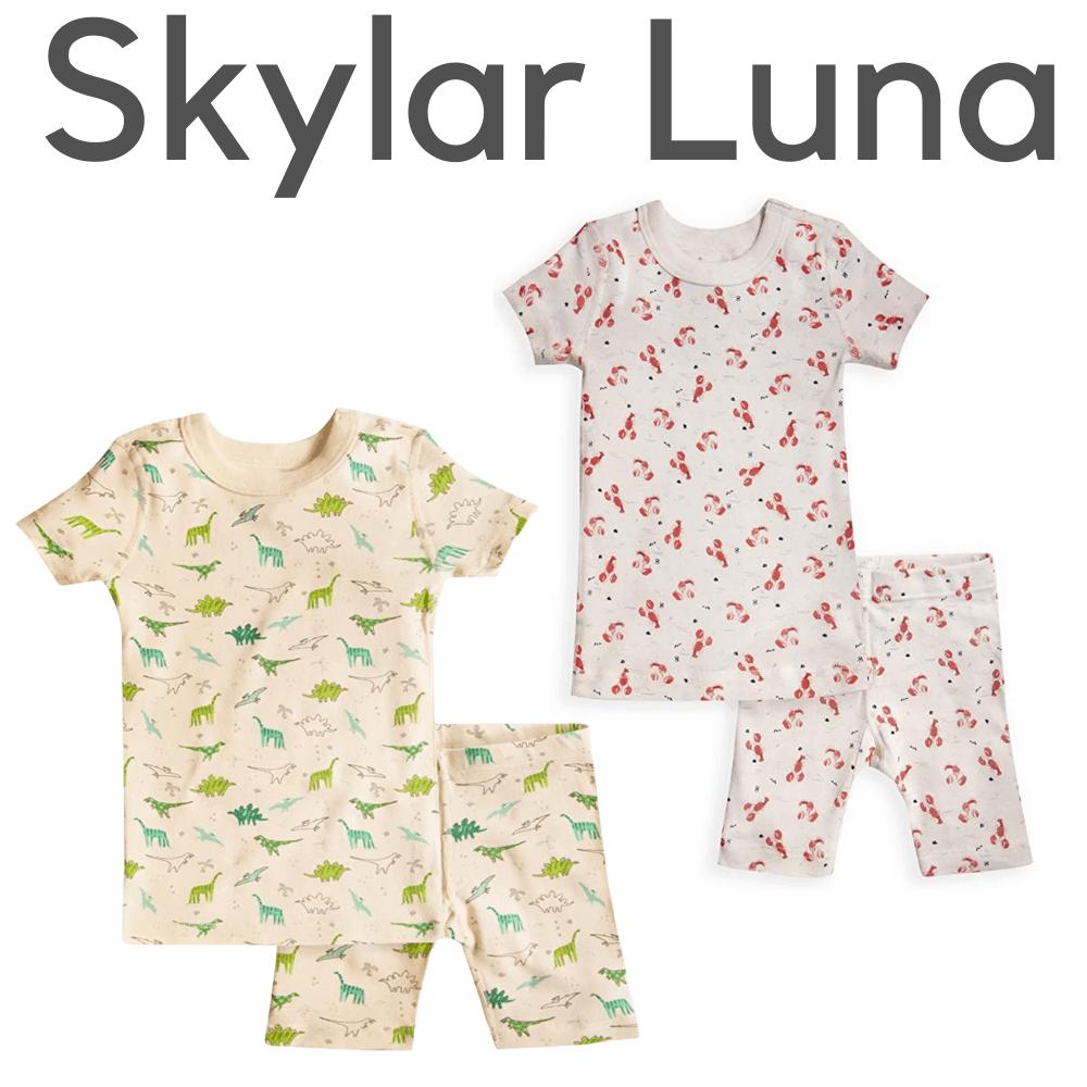 Skylar Luna Organic Short Sleeve Boys Pajamas