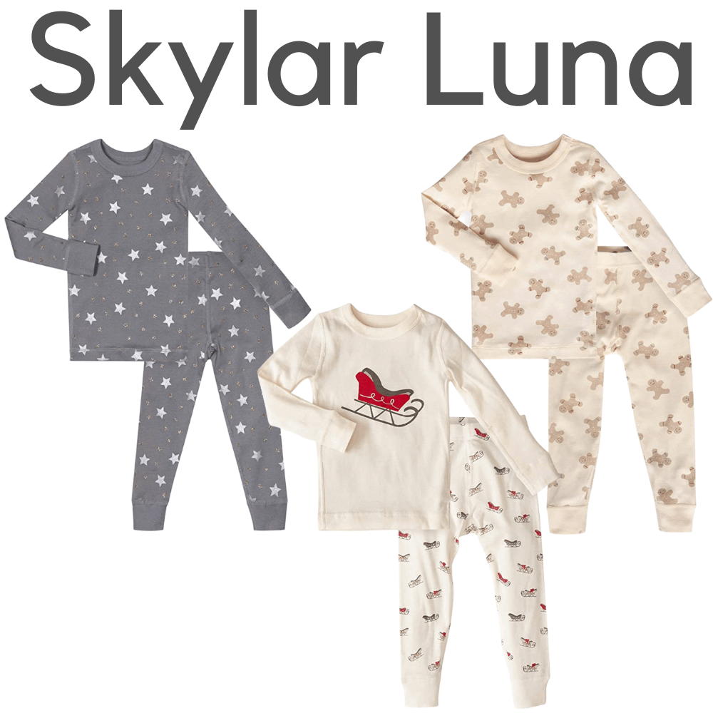 Skylar Luna Organic Holiday Pajamas
