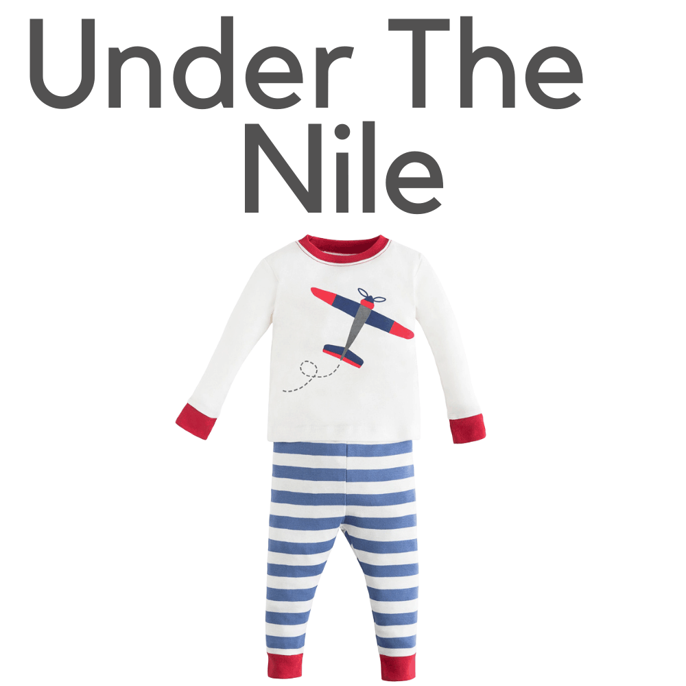 Under The Nile Organic Plane Pajamas