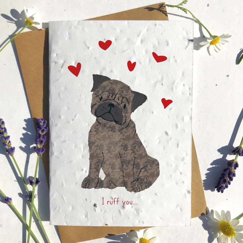Heart Dog Card