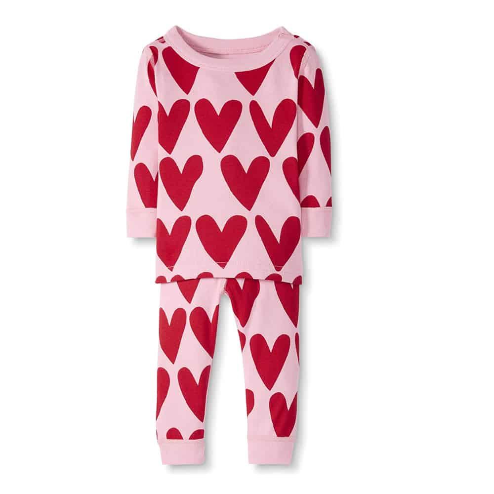 Hanna Andersson Organic Cotton Heart Pajamas
