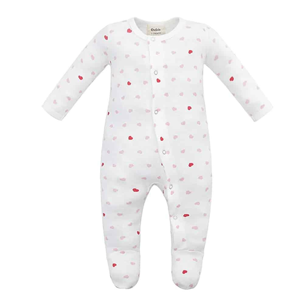 Owlivia Organic Cotton Heart Pajamas