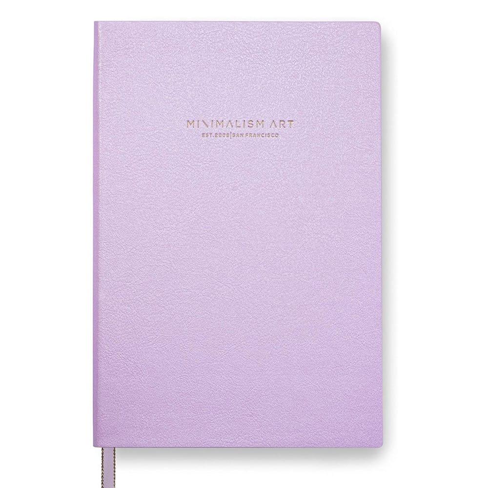 Purple Minimalist Art Sketchbook