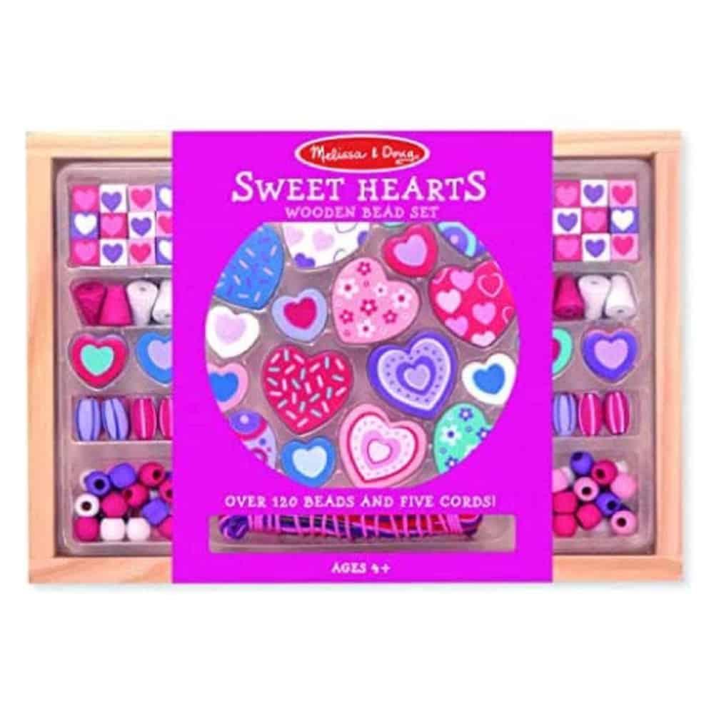Melissa & Doug Sweet Heart Wood Bead Necklace