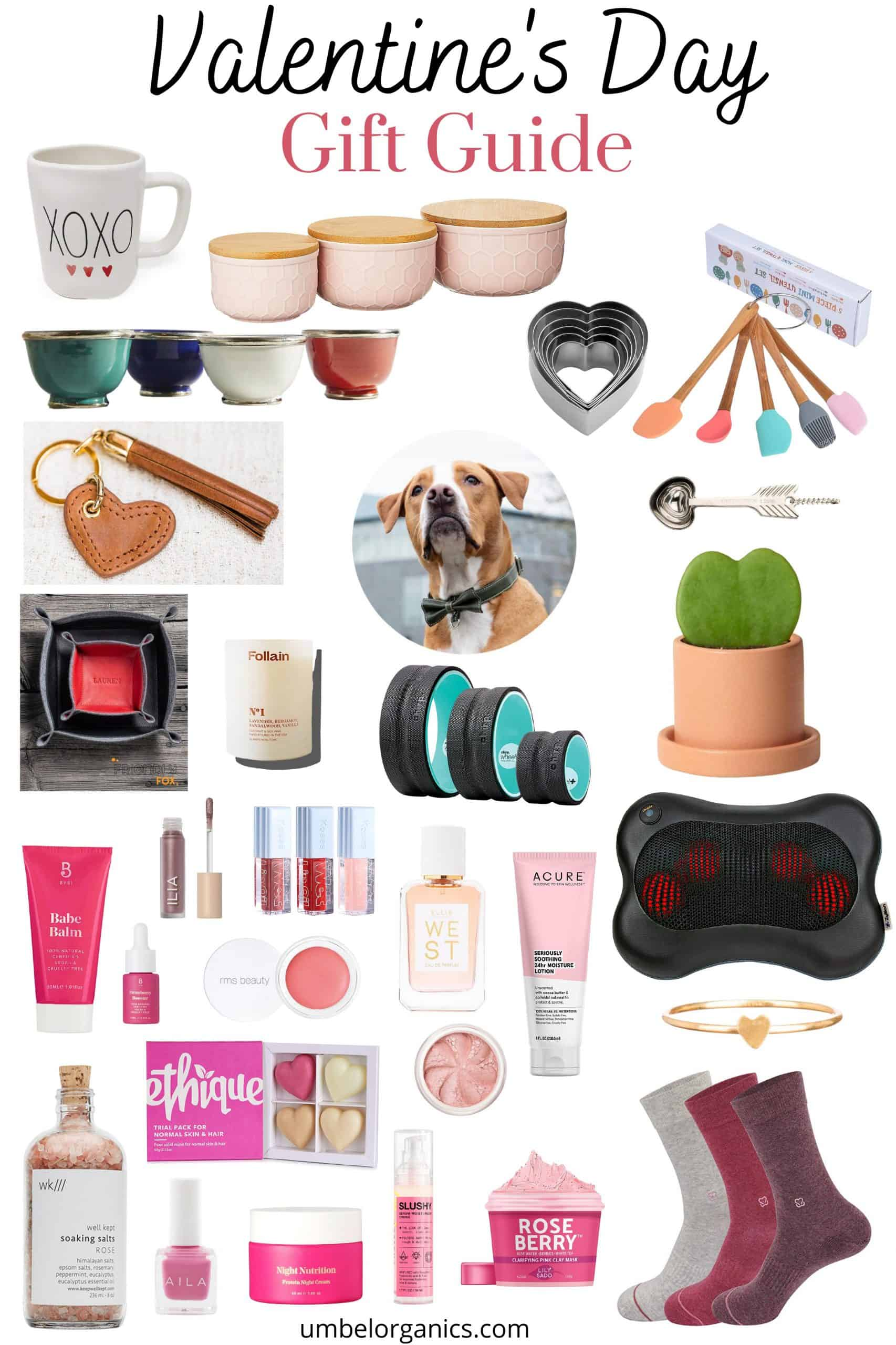 Valentine's Day gifts for adults with kitchen accessories, clean beauty products and non-toxic candles