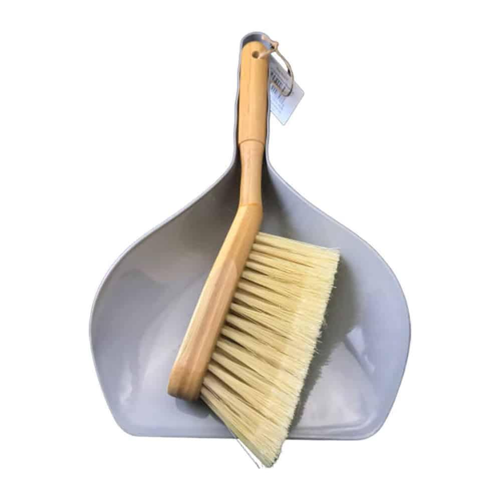 Bamboo Hand Broom & Dustpan