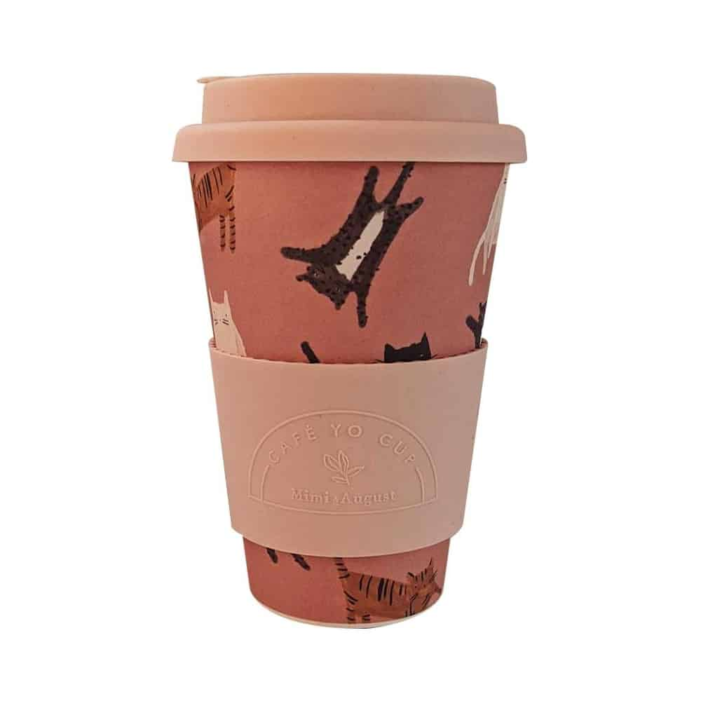 Les Chats Bamboo Reusable Mug