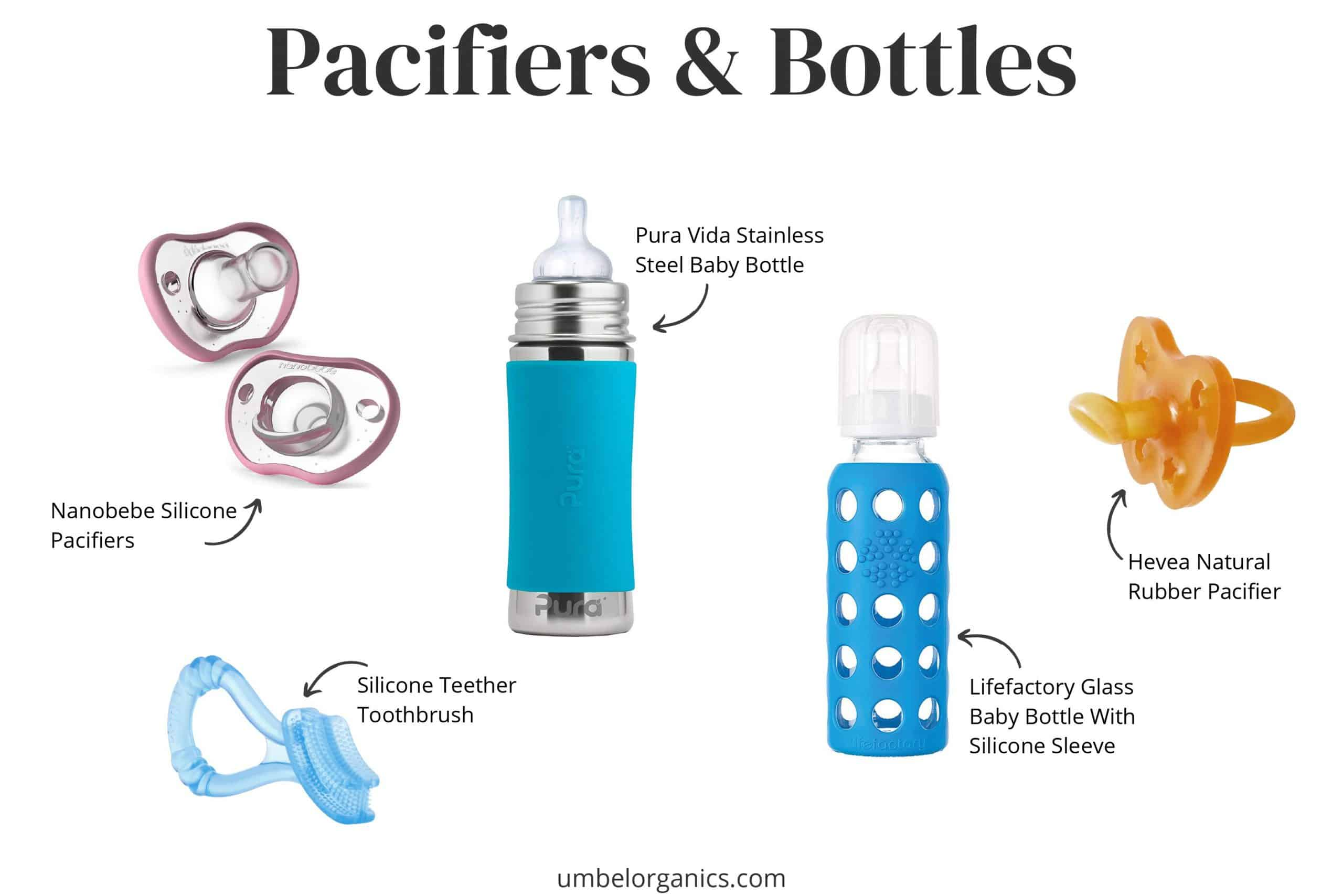 Baby Pacifiers & Bottles