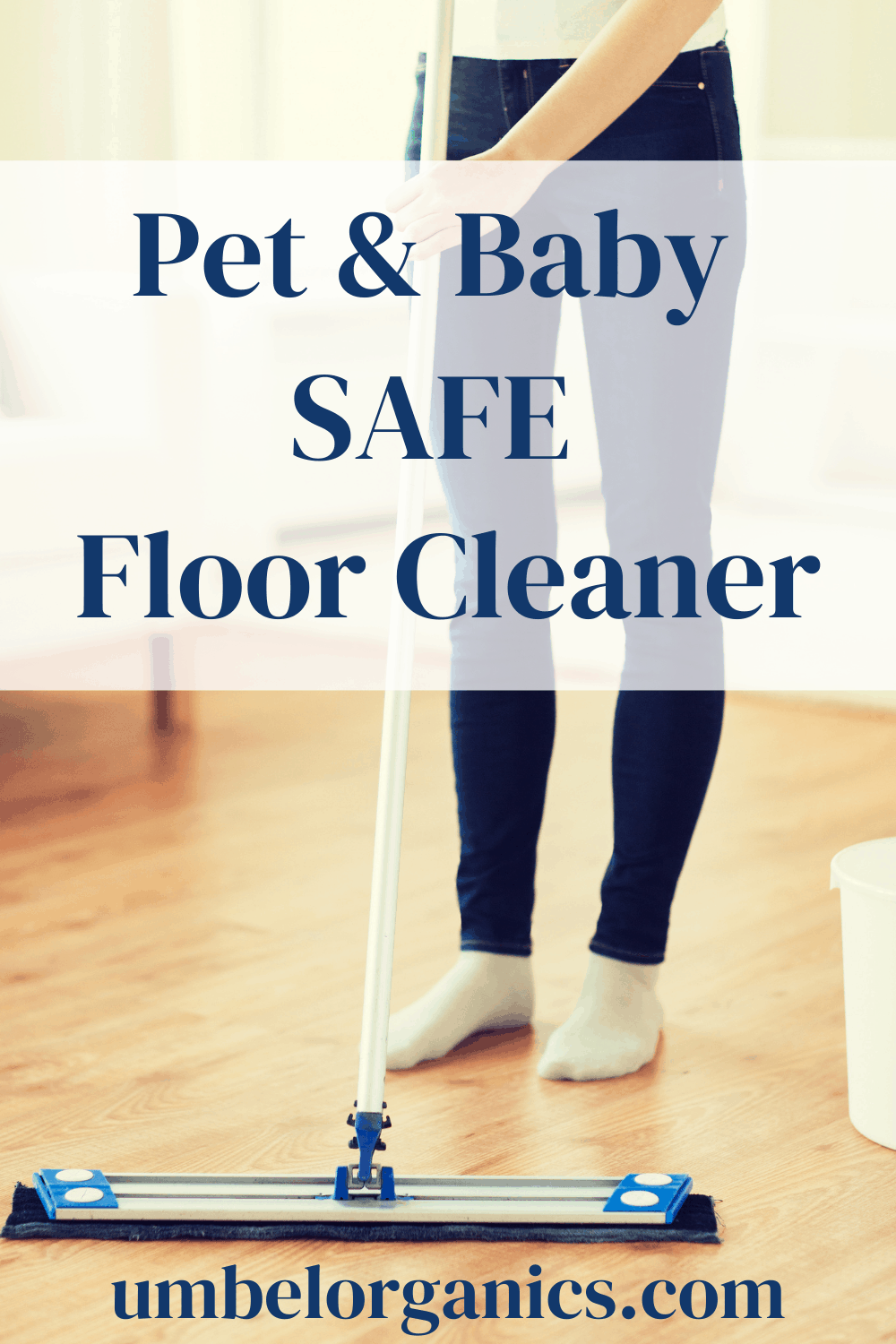 Woman mopping floor with microfiber mop